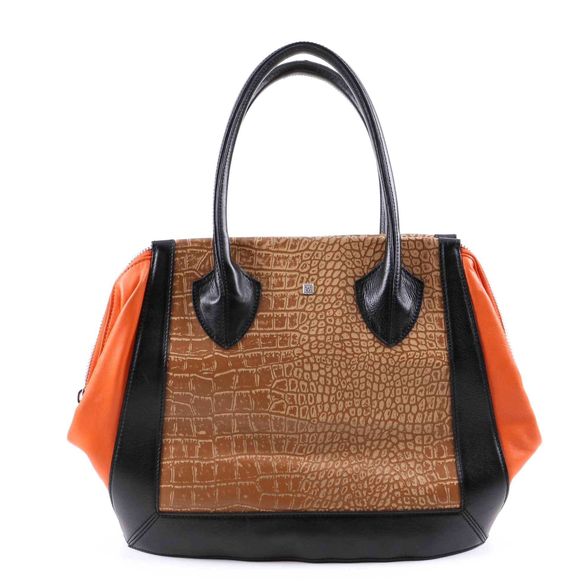 Pour la Victoire Embossed Leather Tote