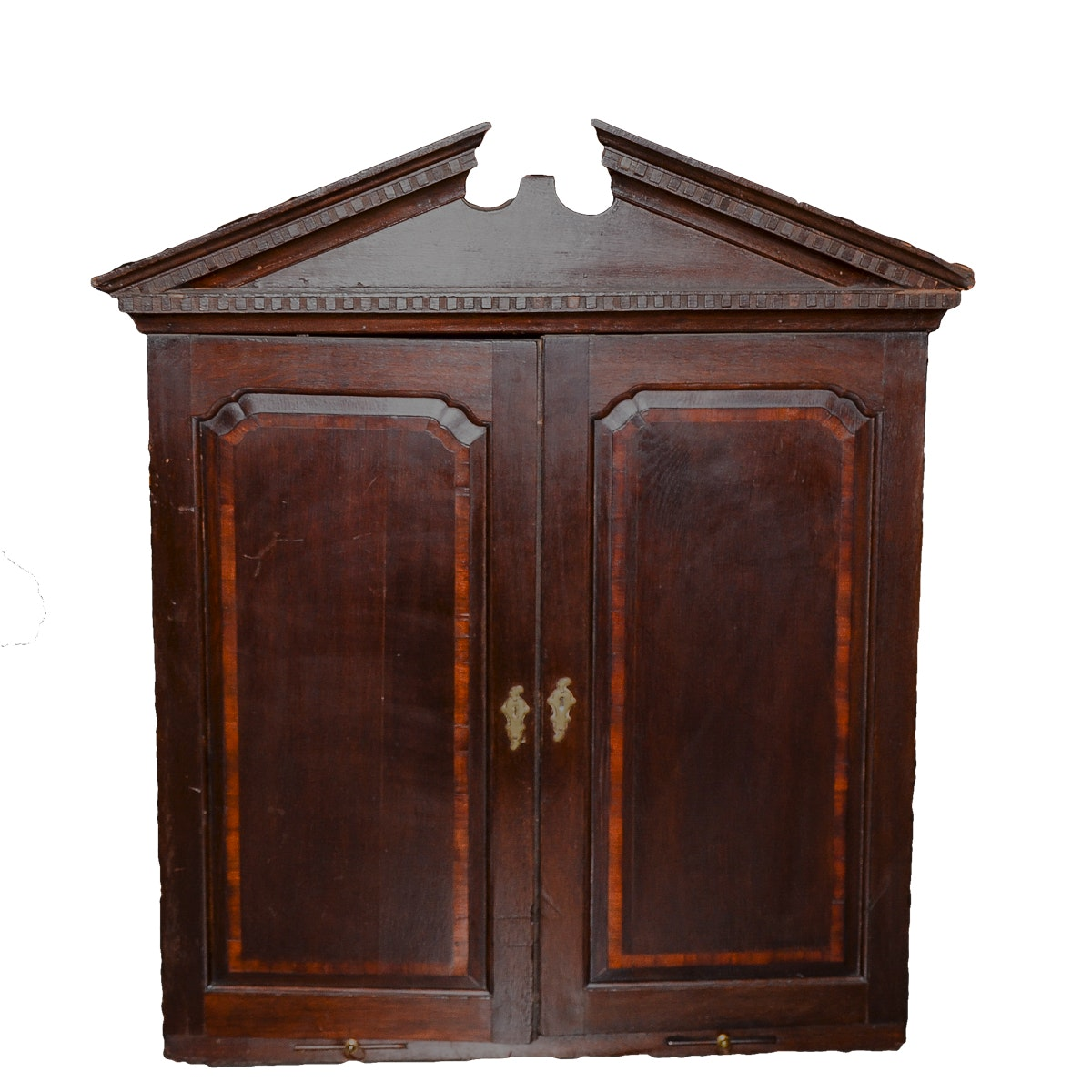 Antique Neoclassical Style Oak Cabinet