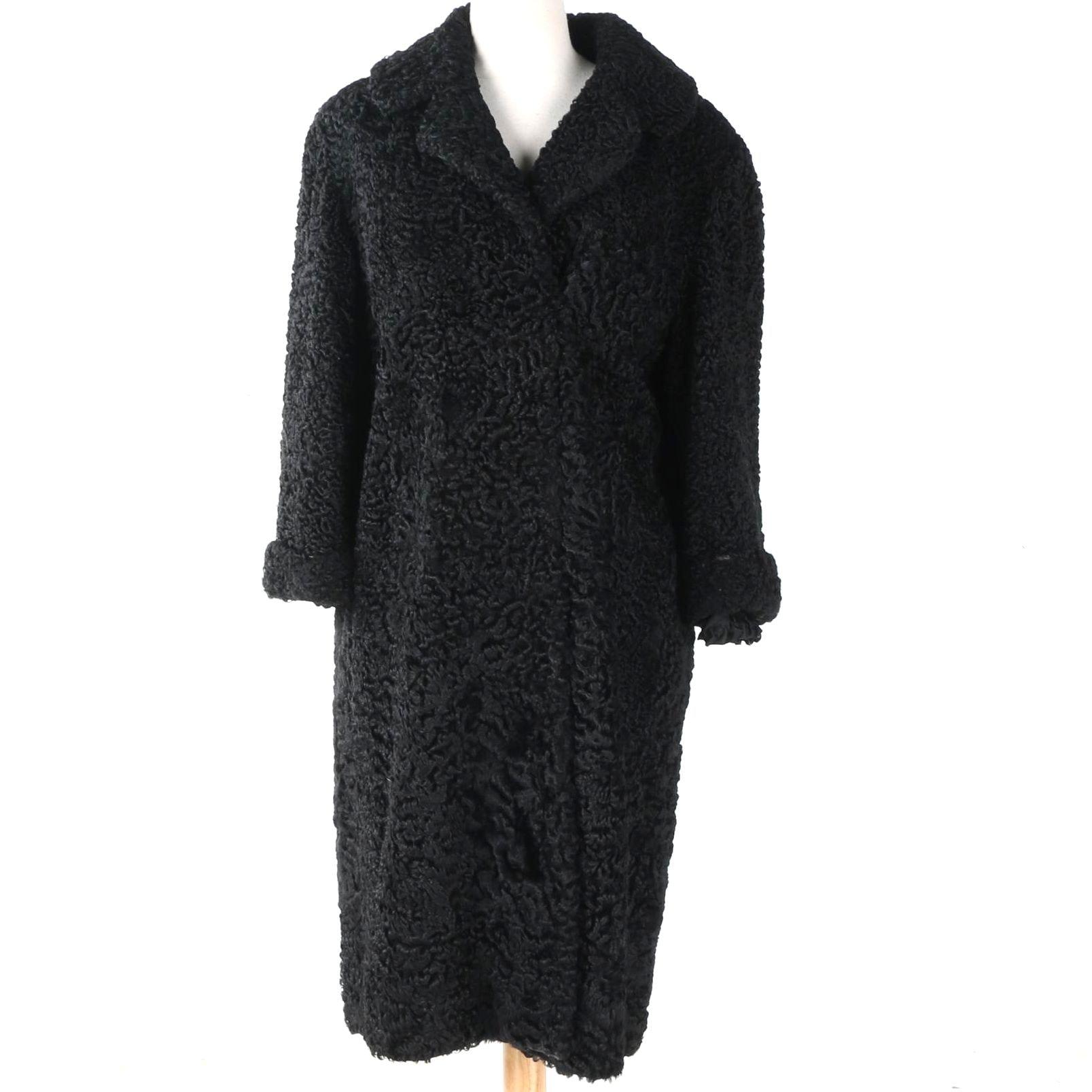 William Rosendort Black Persian Lamb Coat