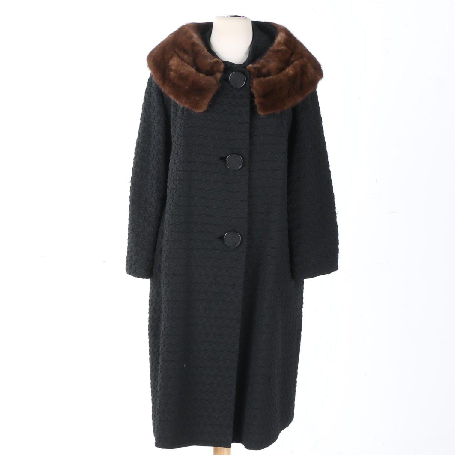 Vintage Dalitzky Coat with Mink Fur Collar