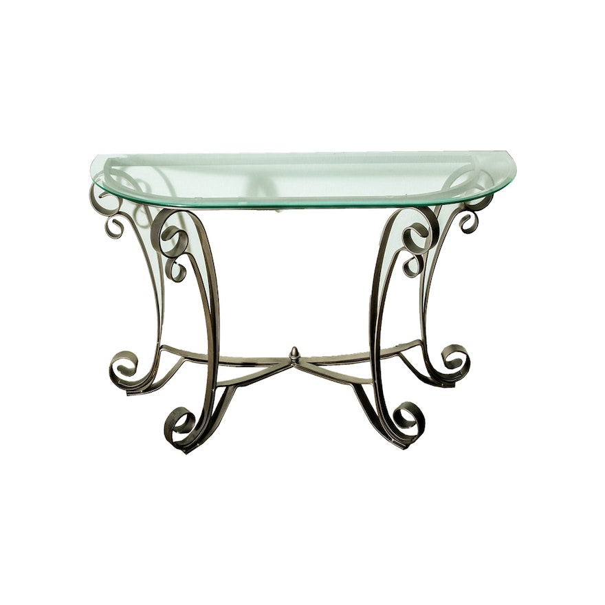 Glass Top Entry Table Ebth