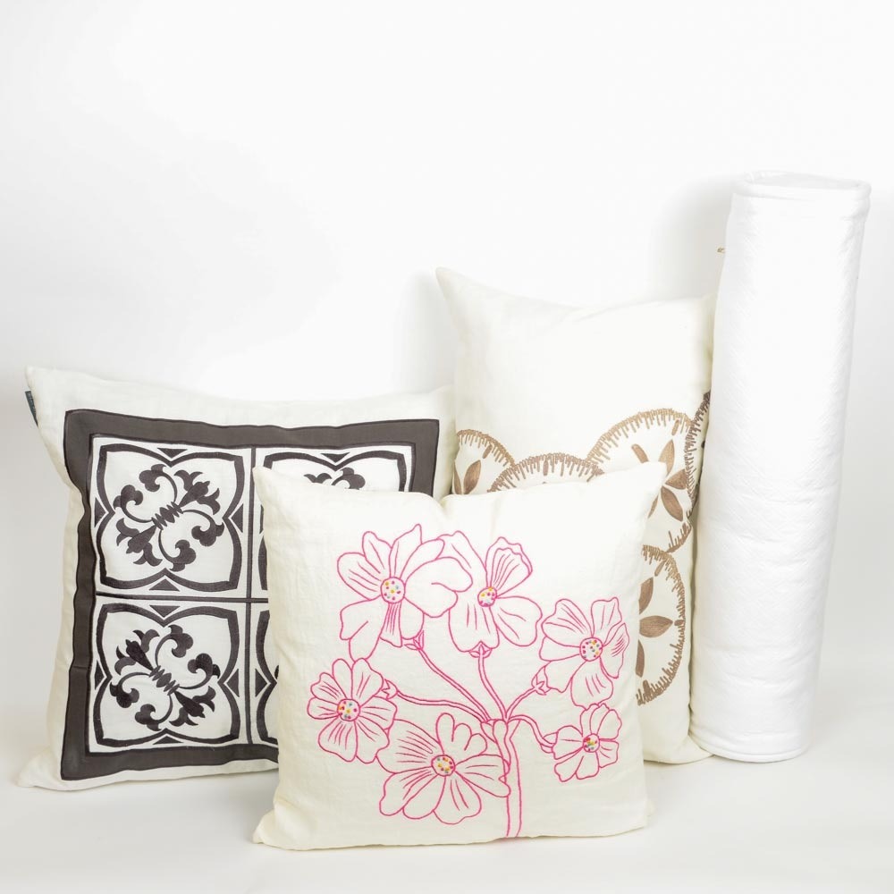 Group of Decorative Throw Pillows Including Lili Allesandra