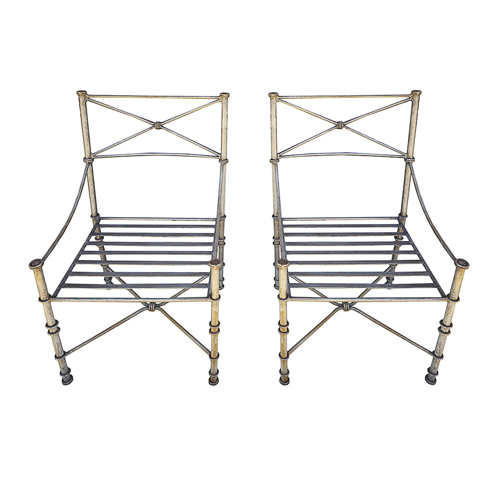 Metal and Wood Patio Furniture