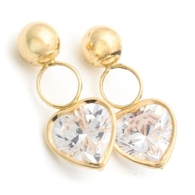 14K Yellow Gold and Cubic Zirconia Charms