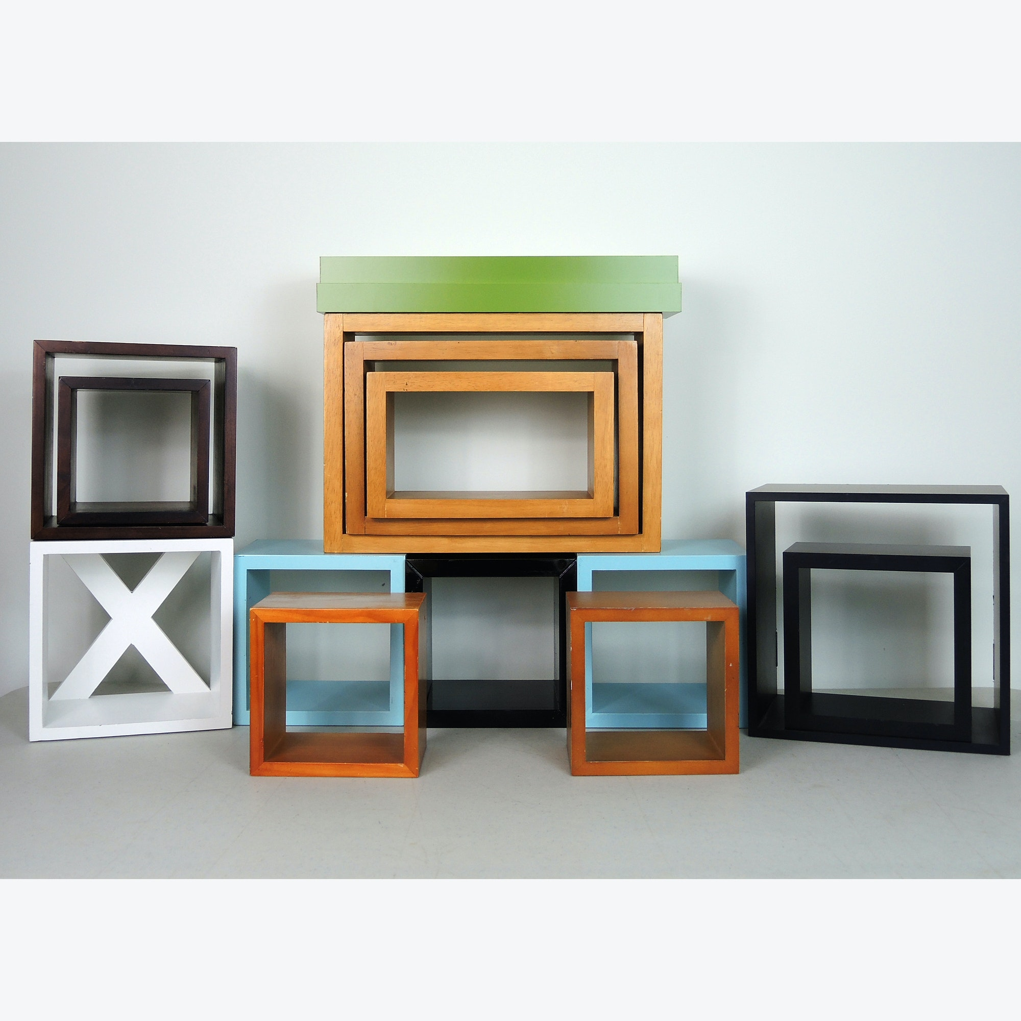 Collection of Wall Display Boxes and Shelves