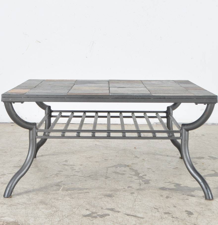 Ashley slate coffee table - Ashley Furniture Slate Tile Patio Coffee Table