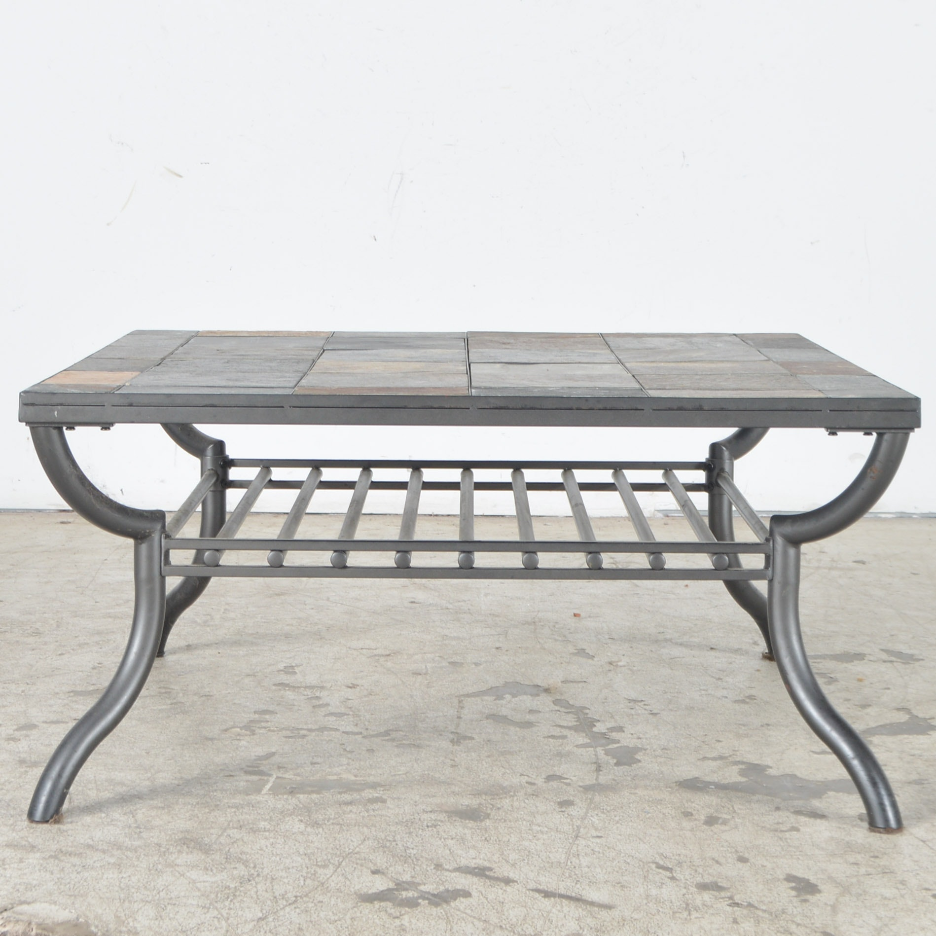 Merveilleux Ashley Furniture Slate Tile Patio Coffee Table ...