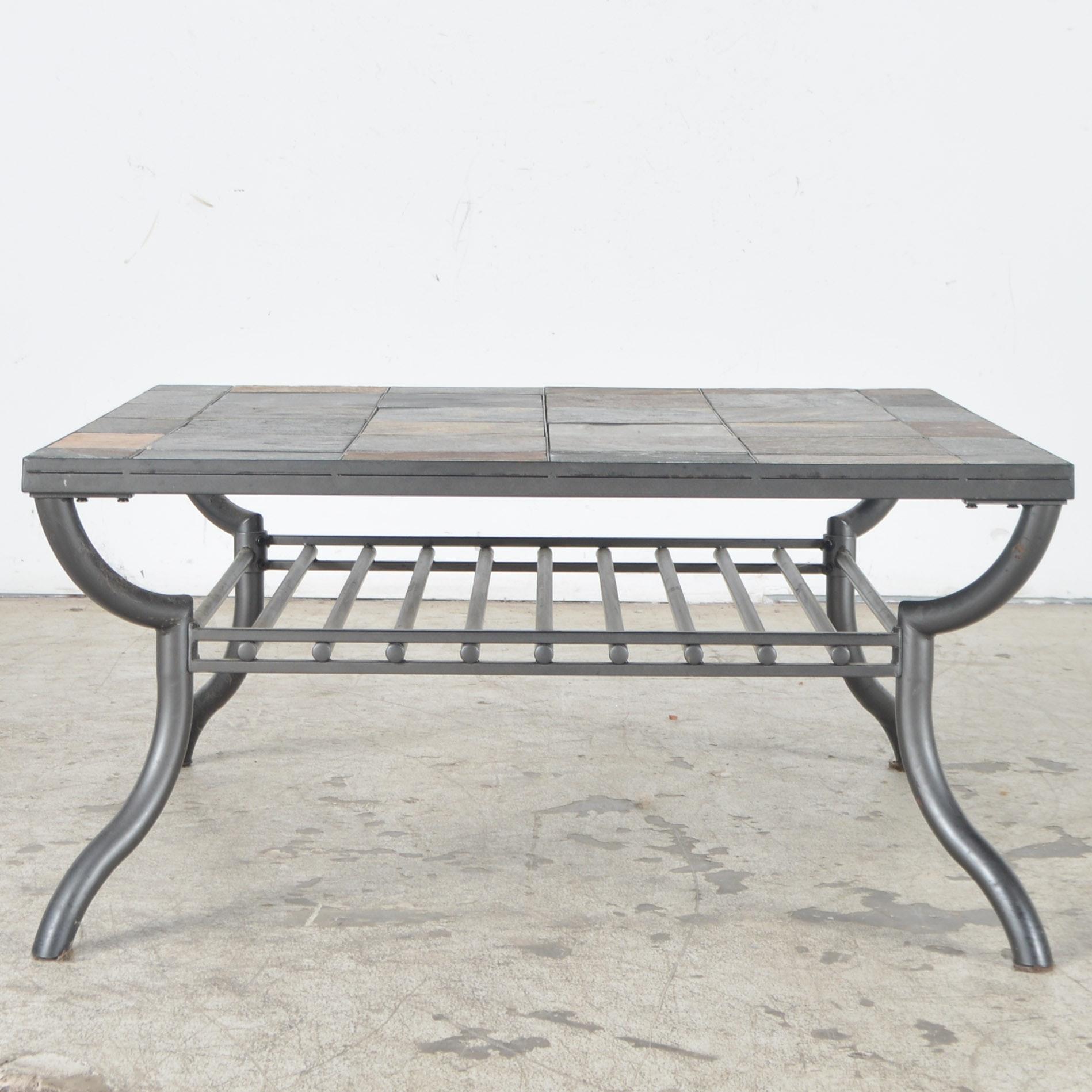 Ashley Furniture Slate Tile Patio Coffee Table