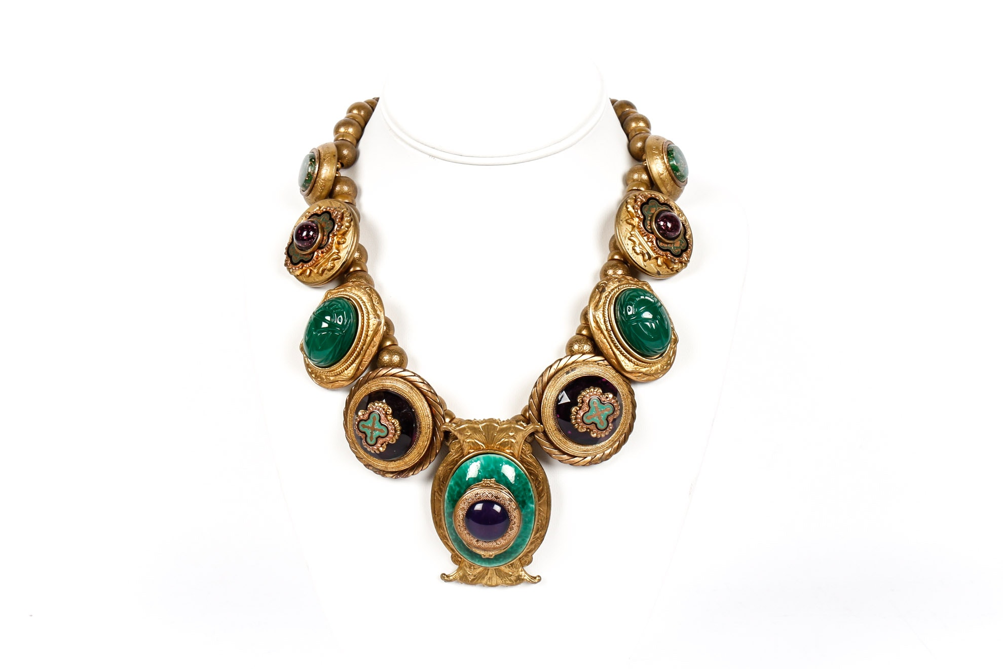 Copper Egyptian Revival Necklace