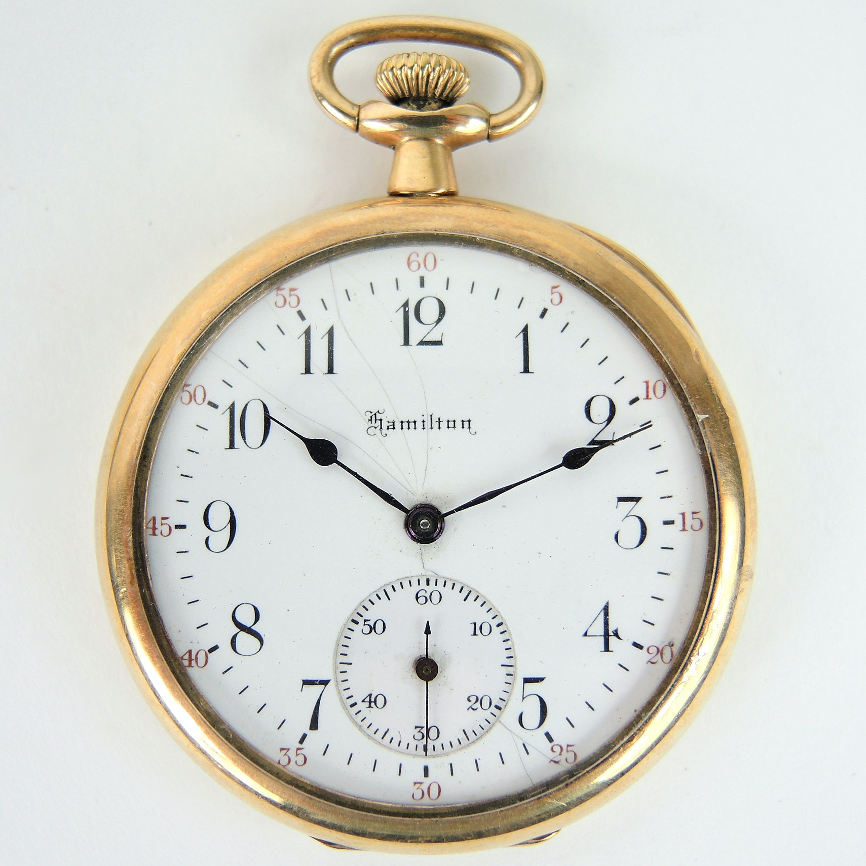 Antique Hamilton Pocket Watch with Display Case