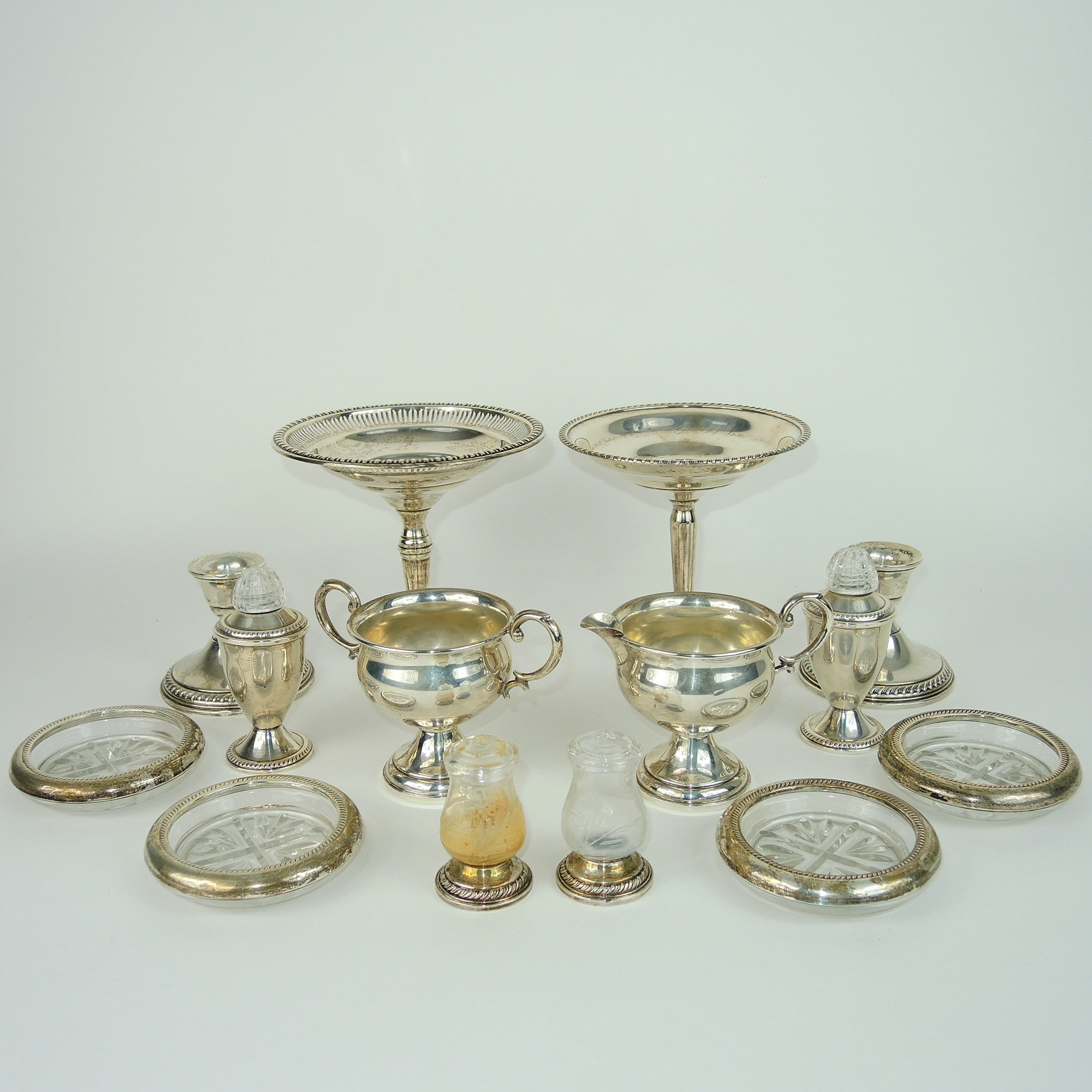 Assorted Weighted Sterling Silver Serving Pieces