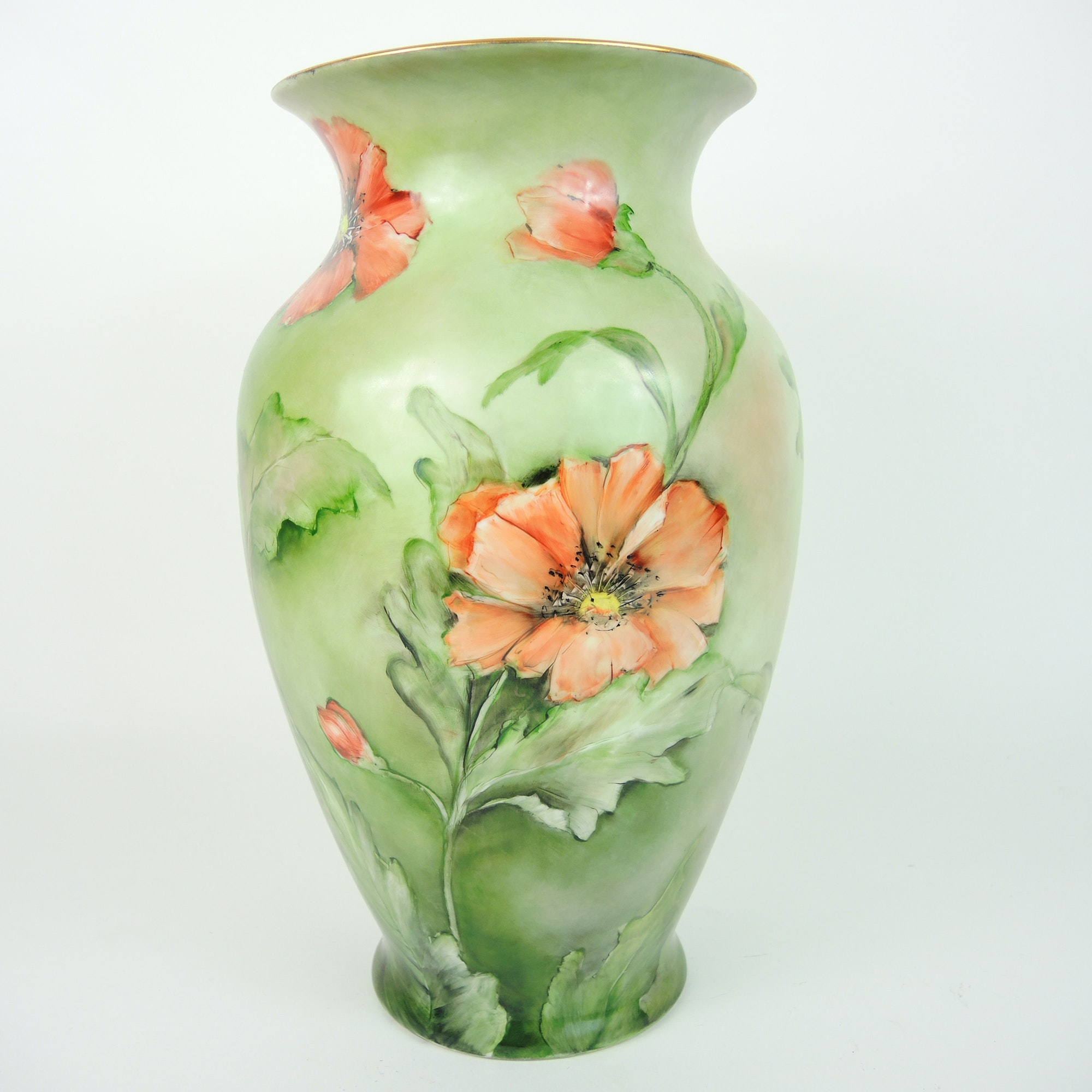 Signed Hand-Painted Vase