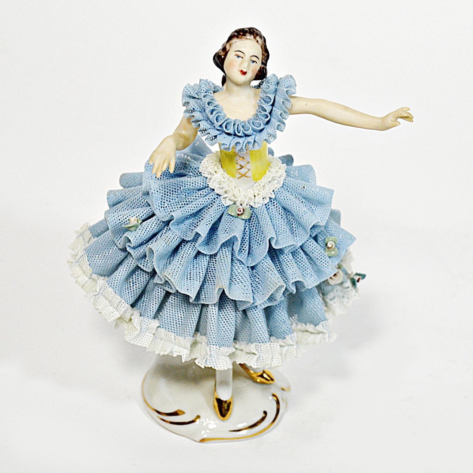 Antique Dresden Porcelain Ballerina