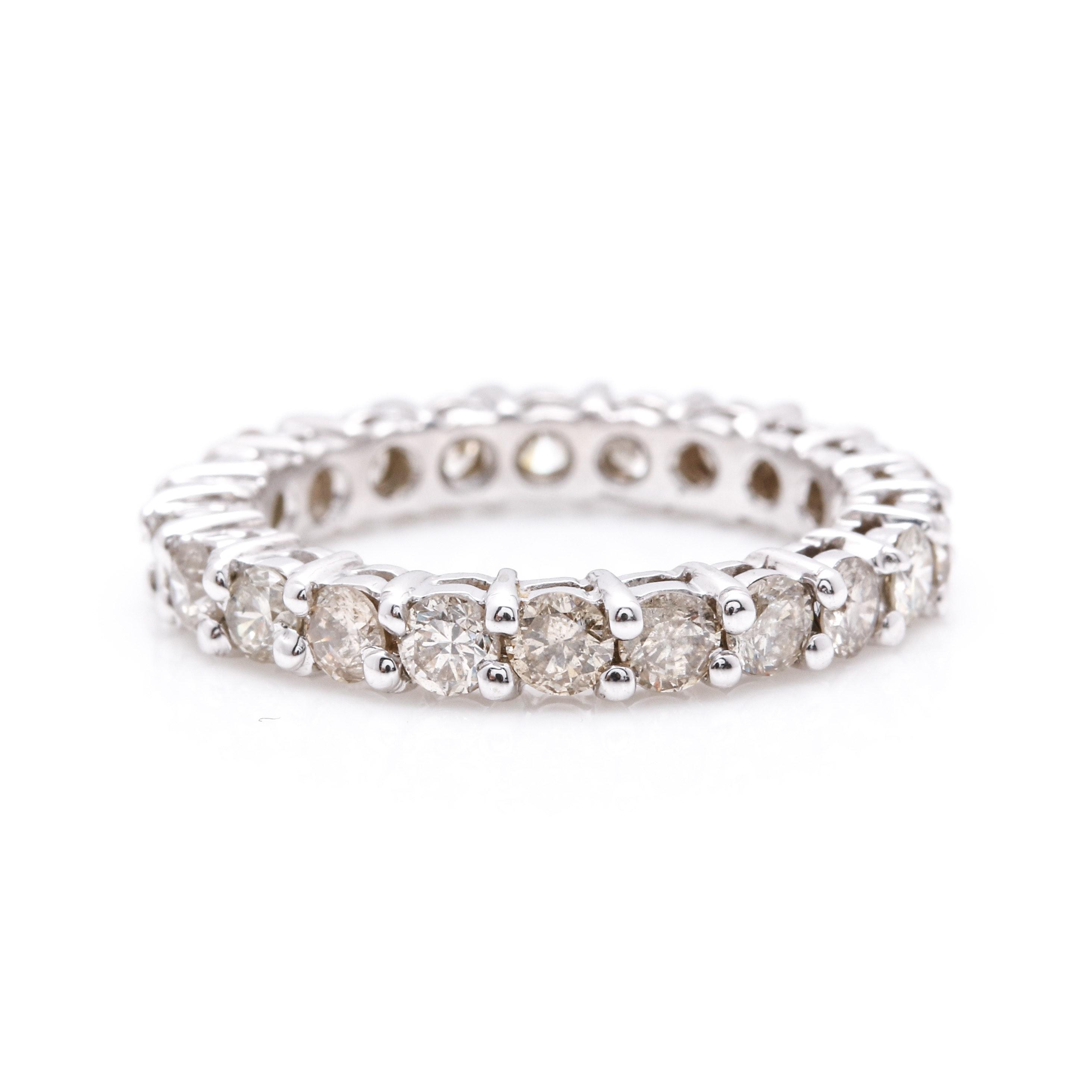 14K White Gold 1.76 CTW Diamond Eternity Ring
