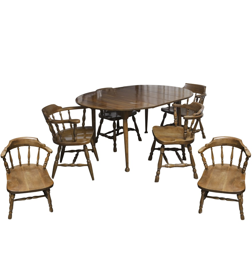 Colonial Dining Room Furniture: Vintage Colonial Style Dining Table And Chairs : EBTH