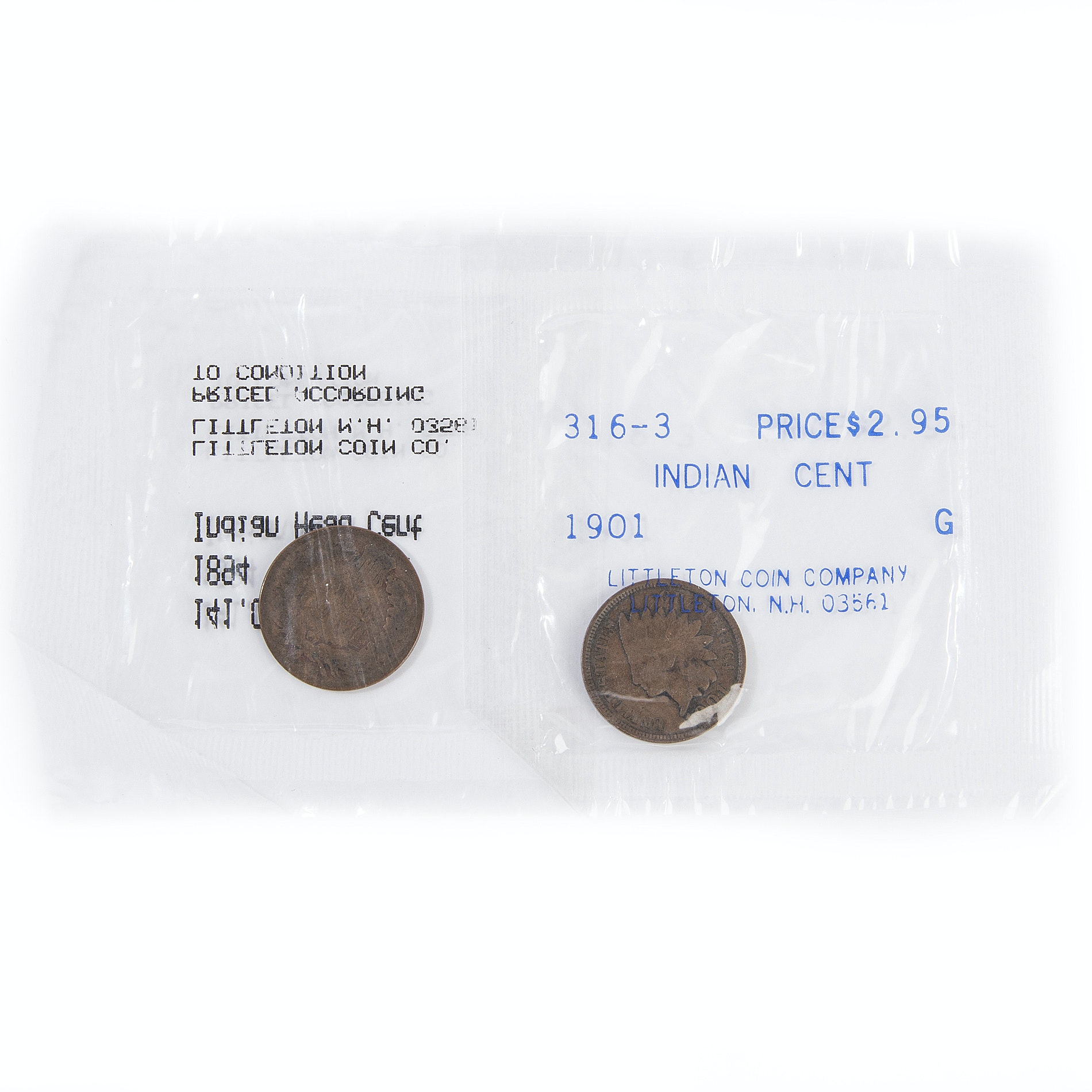 1894 and 1901 Indian Head Cents