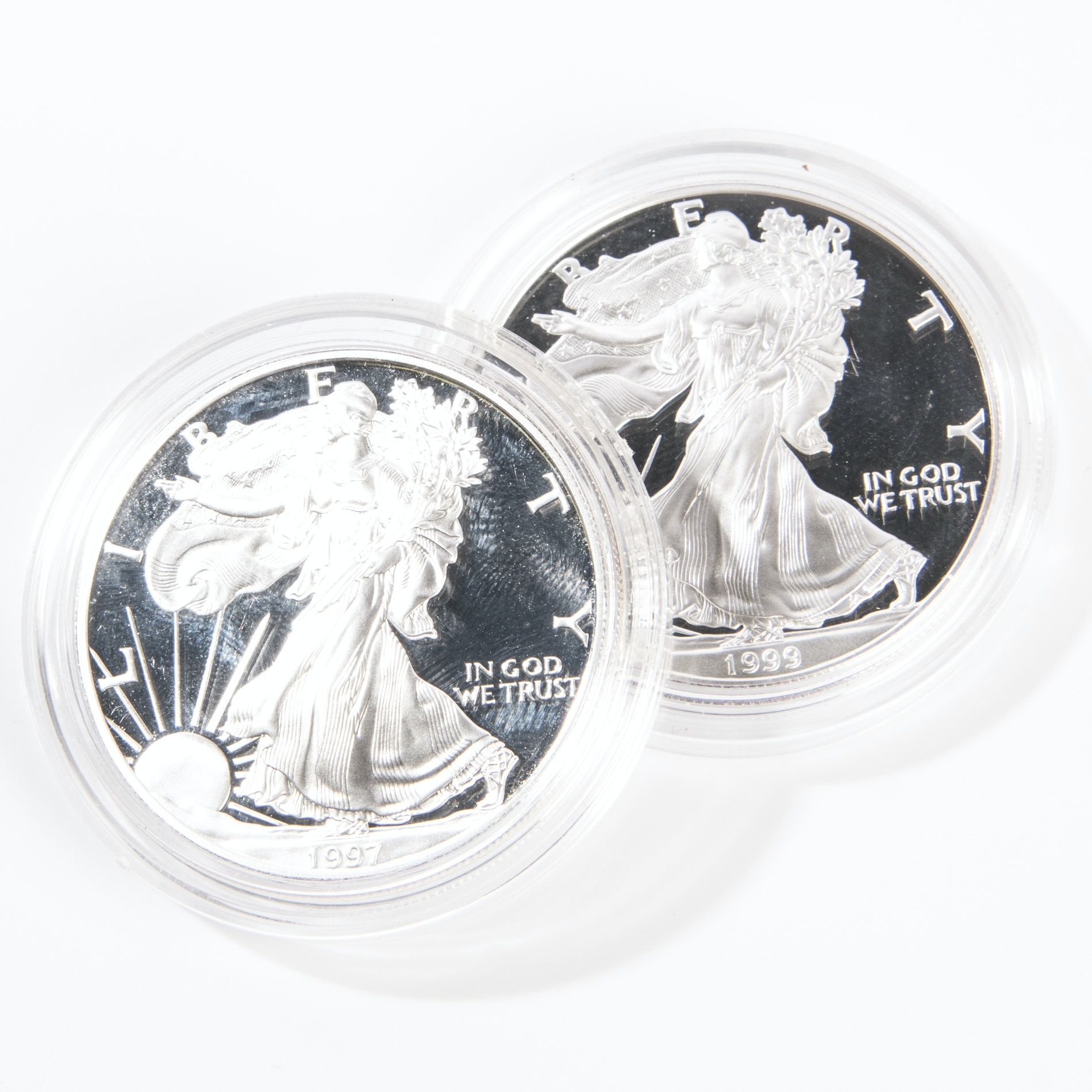 1997 and 1999 United States Silver Eagle Dollars