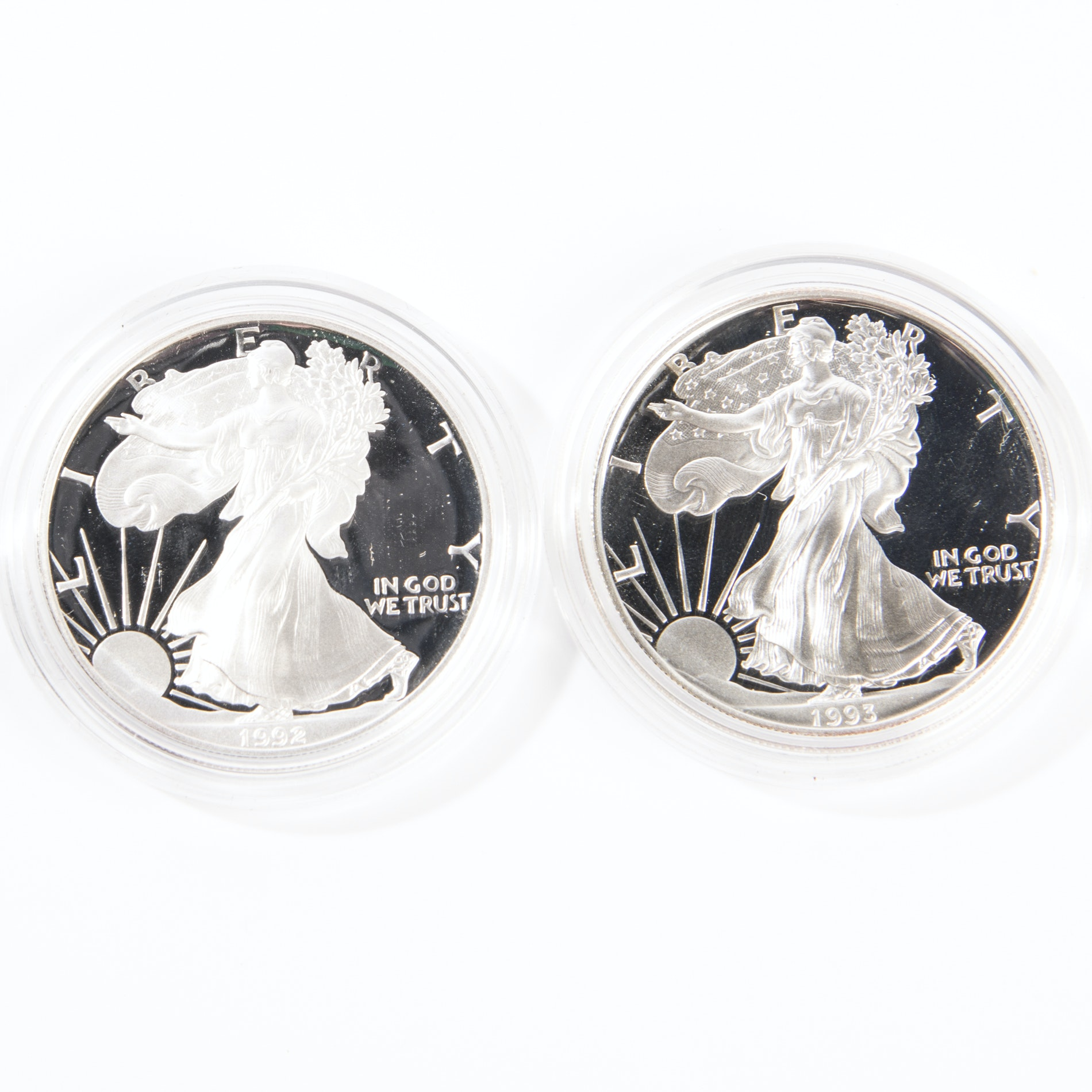 1992 and 1993 United States Silver Eagle Dollars