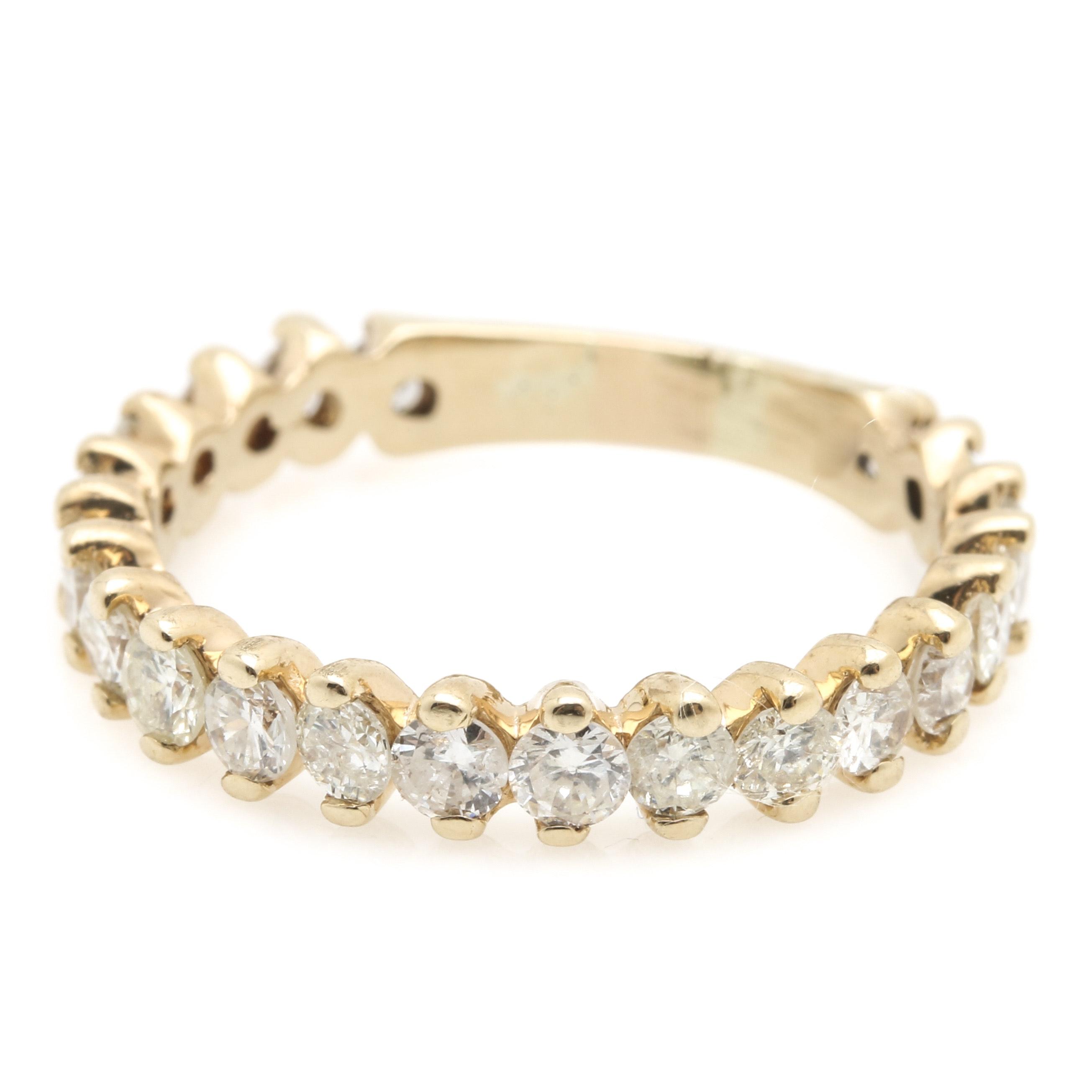 14K Yellow Gold 1.21 CTW Diamond Ring