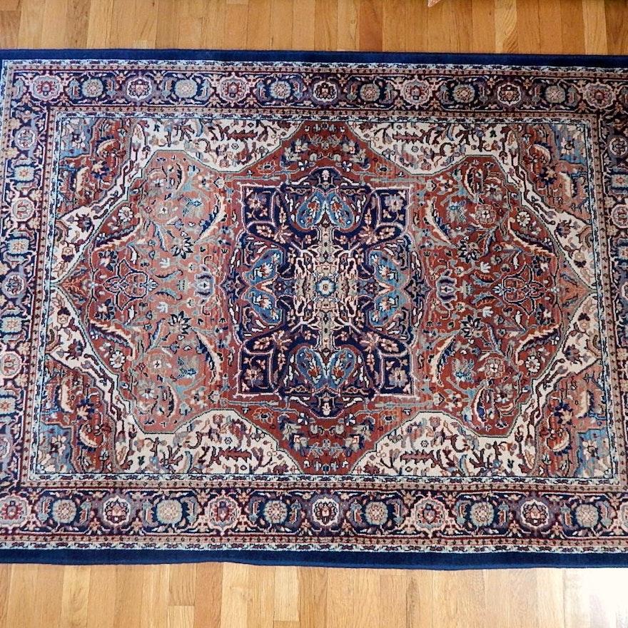 "Hand Knotted Indo Persian Obeetee Wool Area Rug Ebth: Karastan Persian Treasures ""Heriz Medallion"" Area Rug : EBTH"