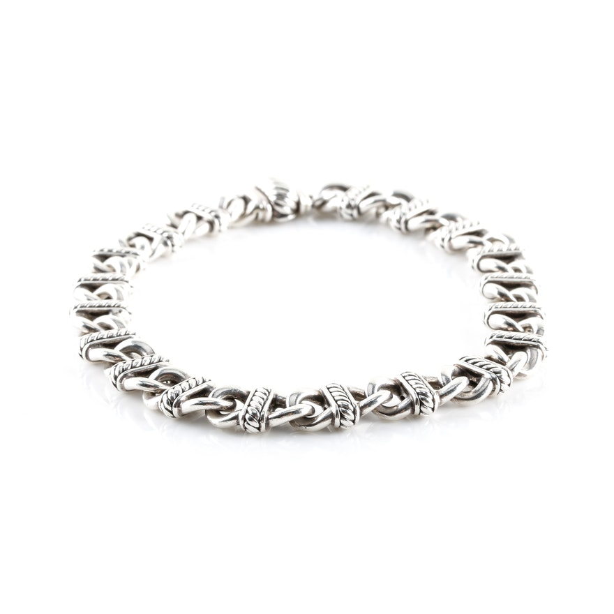 David Yurman Sterling Silver Madison Link Bracelet