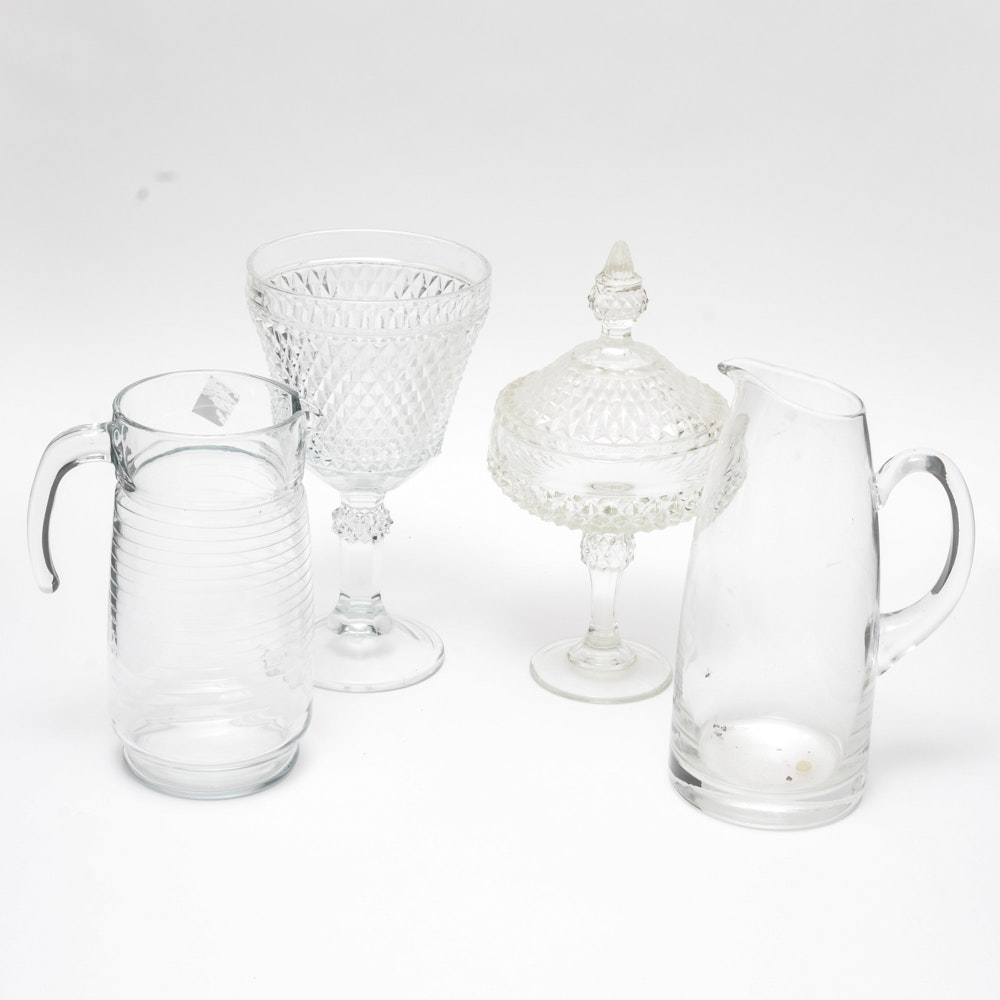 Crystal Candy Dishes and Pitchers