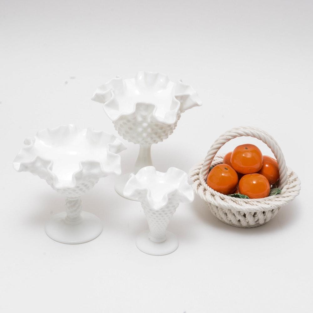 Vintage White Porcelain Set