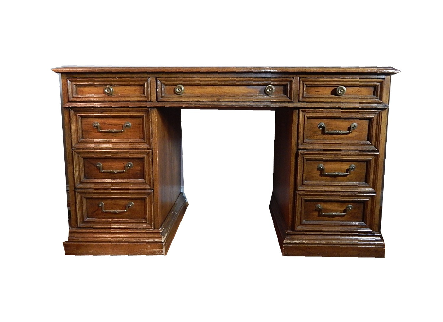 Vintage Wood Knee Hole Desk
