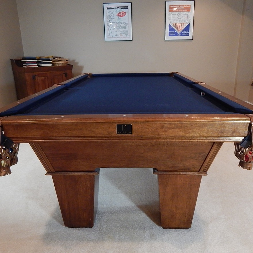 Kasson Oak Pool Table And Accessories Ebth