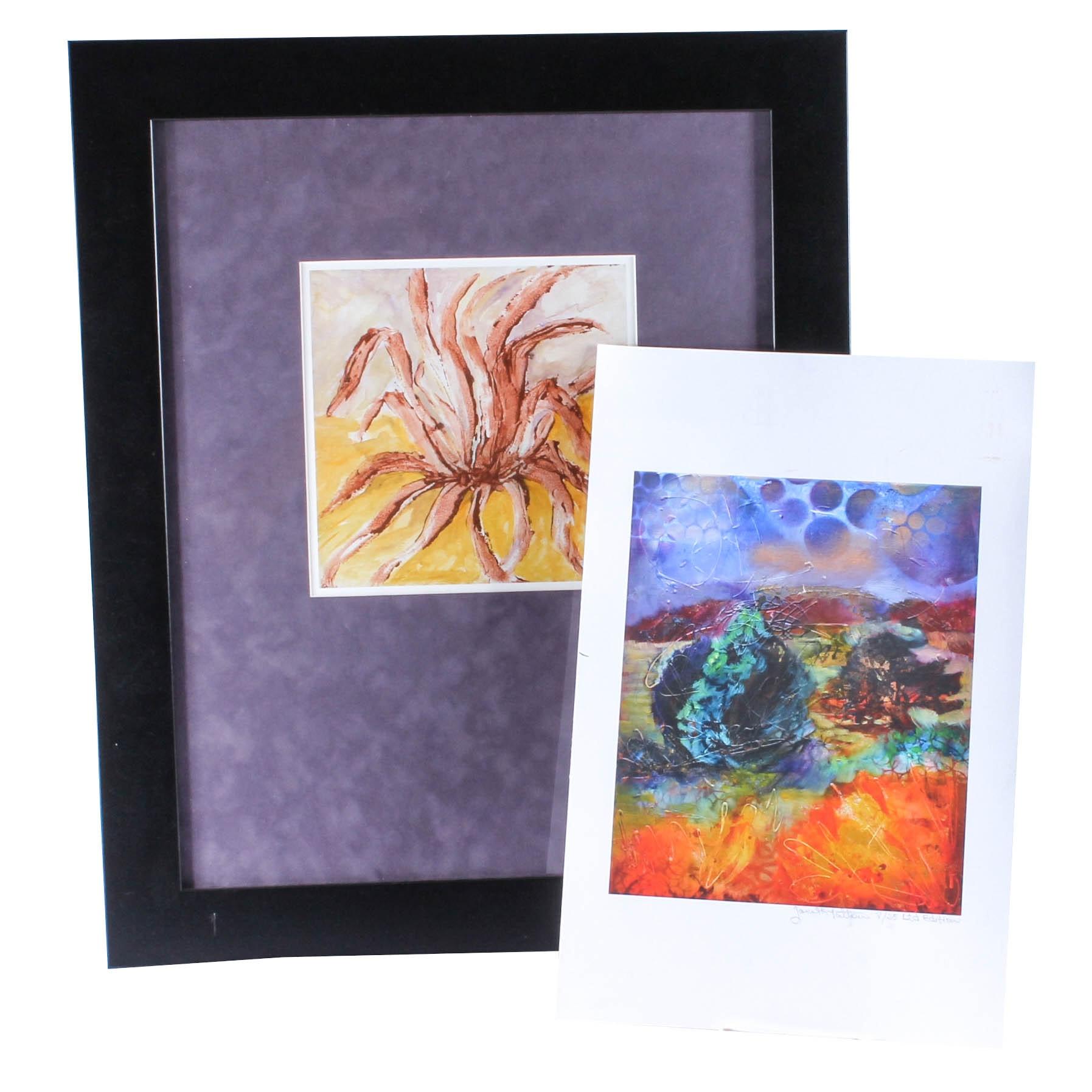 Two Janeth Patton Giclée Prints