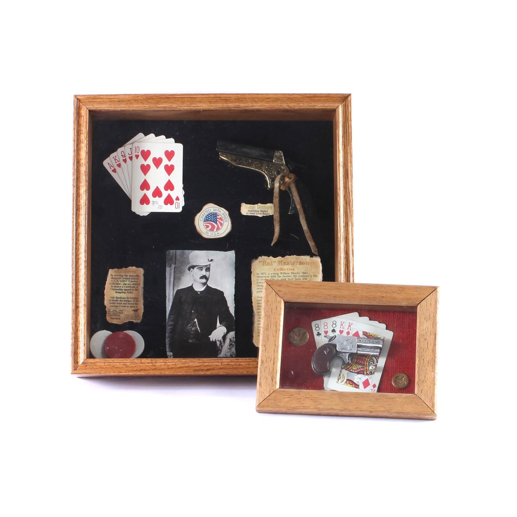 Pair of Gambler-Themed Shadowboxes