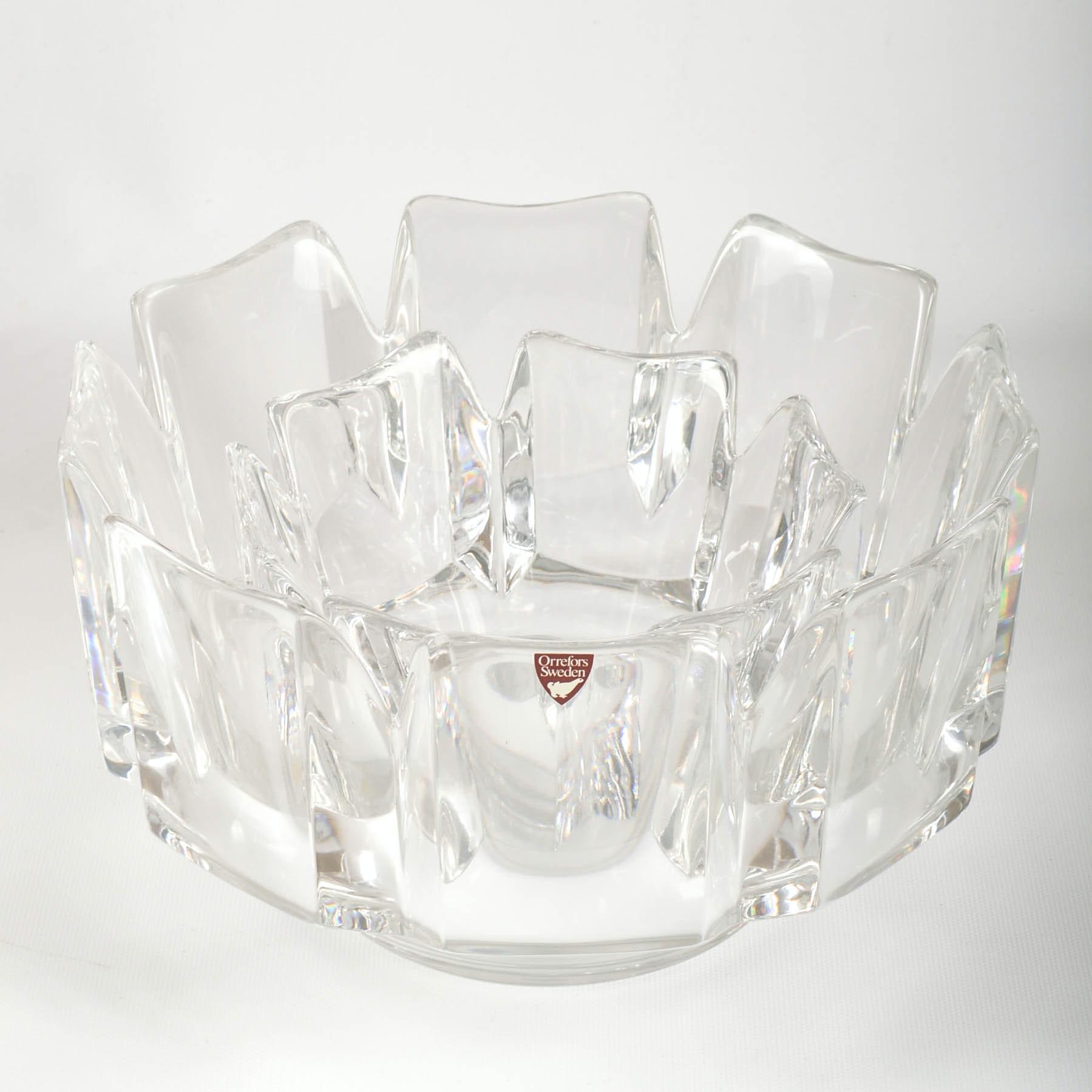 "Orrefors Crystal ""Corona"" Bowls"