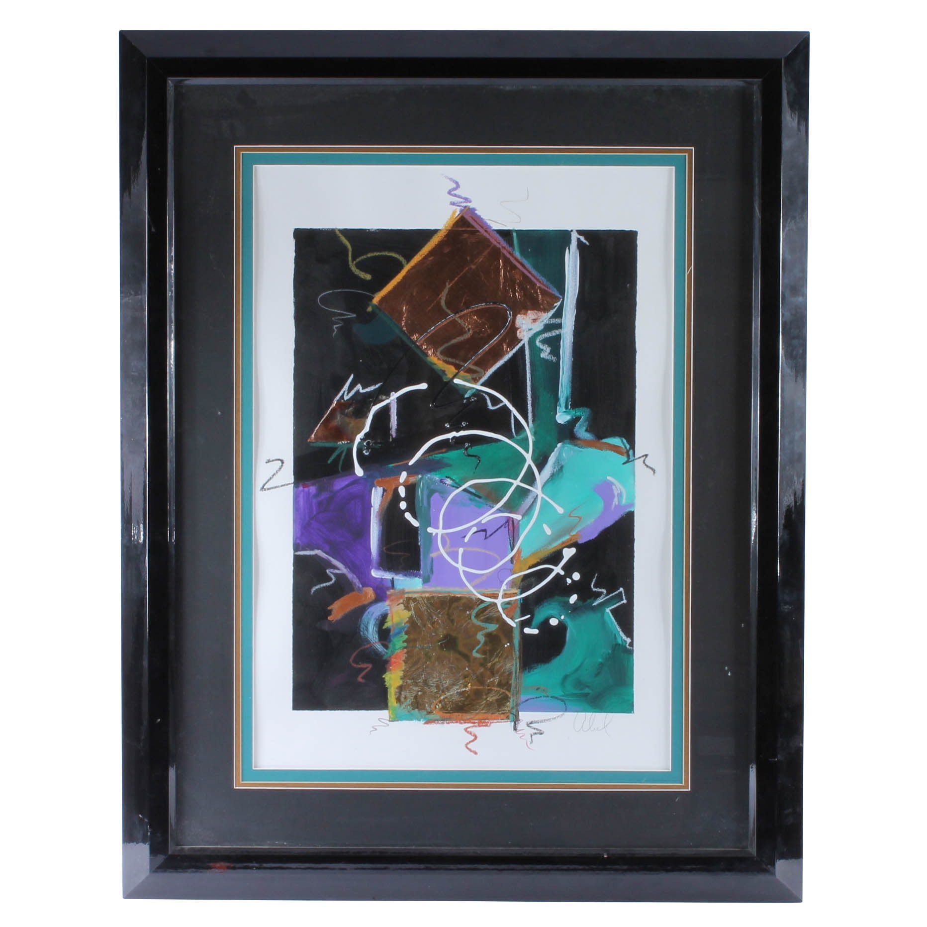 Michelson Abel Signed Original Mixed Media Painting