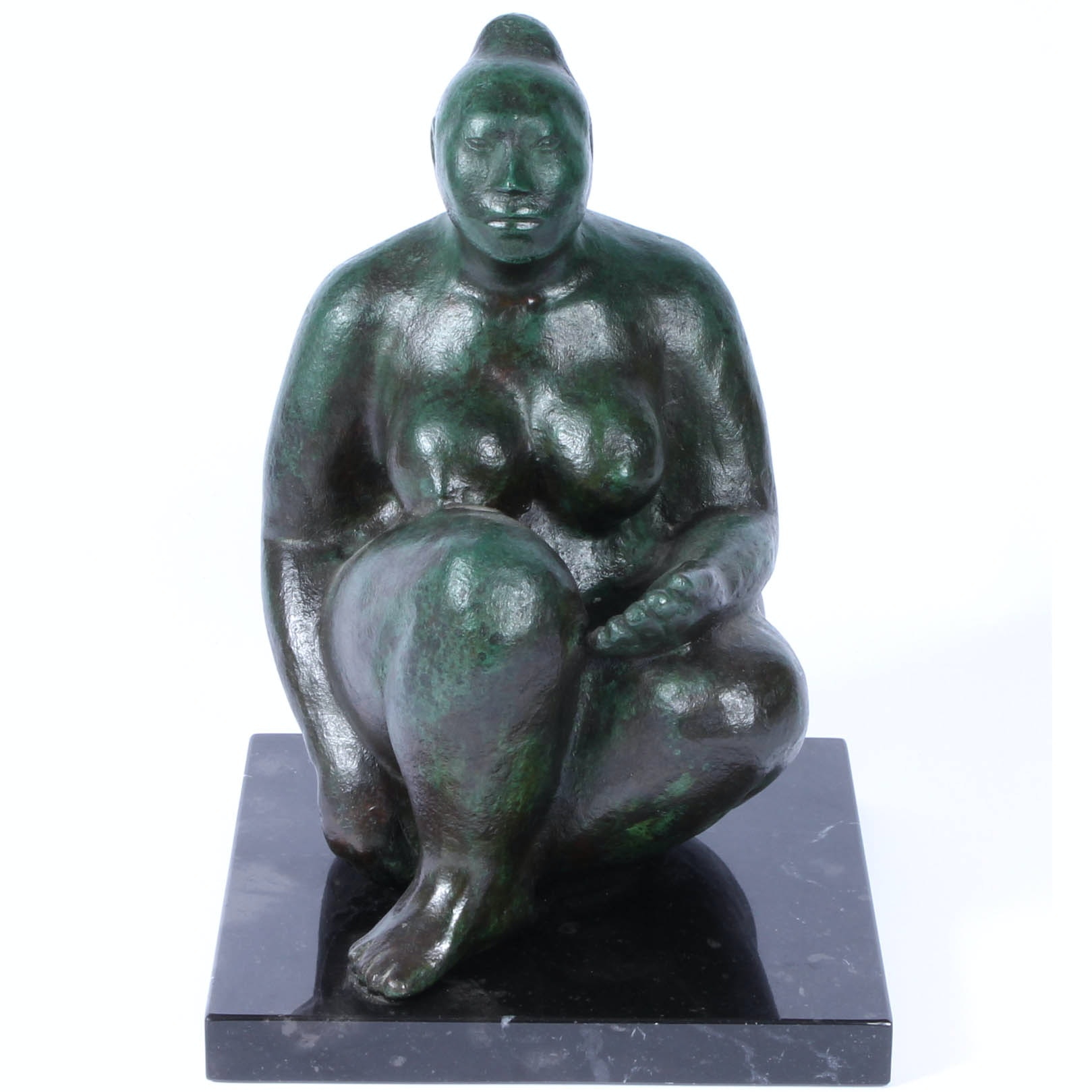 Jorge Luis Cuevas Signed Bronze Sculpture Depicting Female Nude