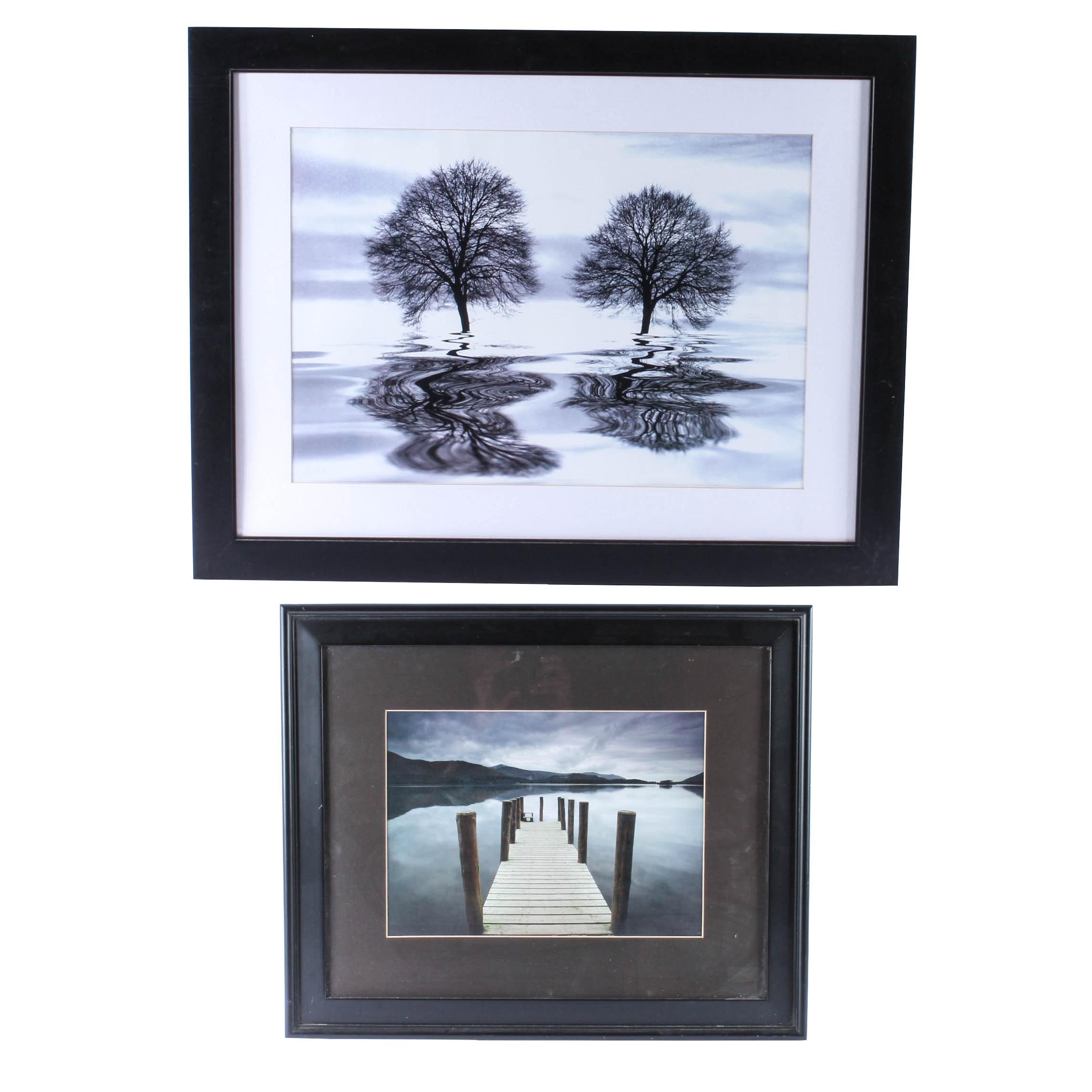 Two Framed Photographic Landscape Prints