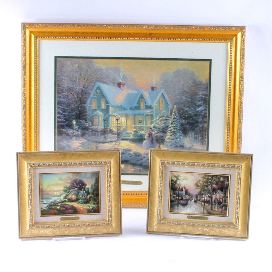 Collection of Thomas Kinkade Framed Prints : EBTH