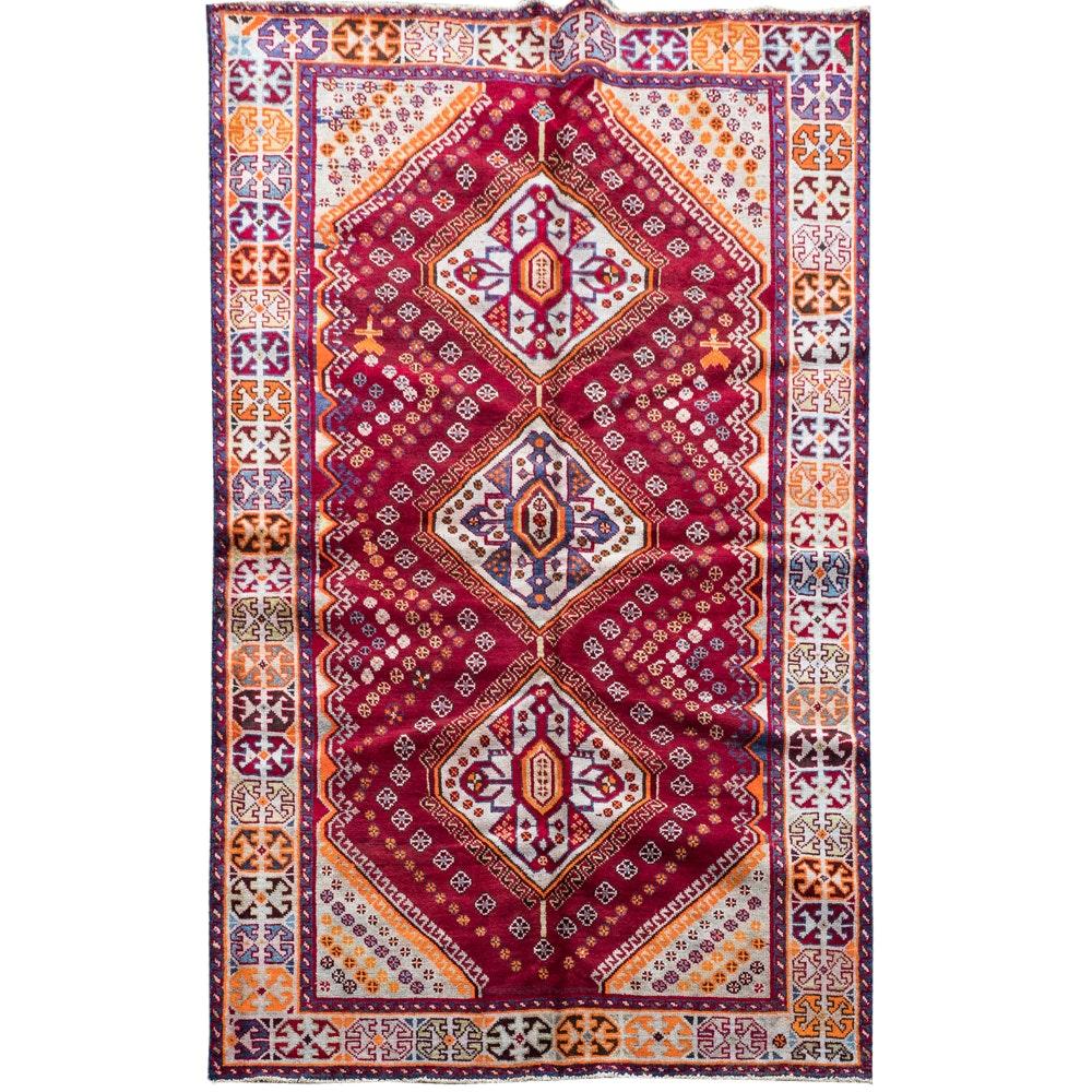 Hand-Woven Persian Qashqai Wool Area Rug