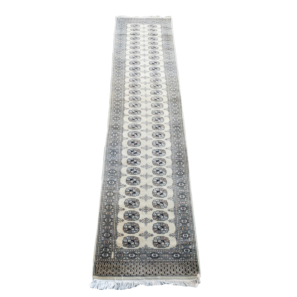 Finely Knotted Bokhara Wool Runner