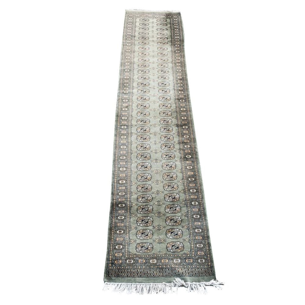 Finely Knotted Bokhara Carpet Runner