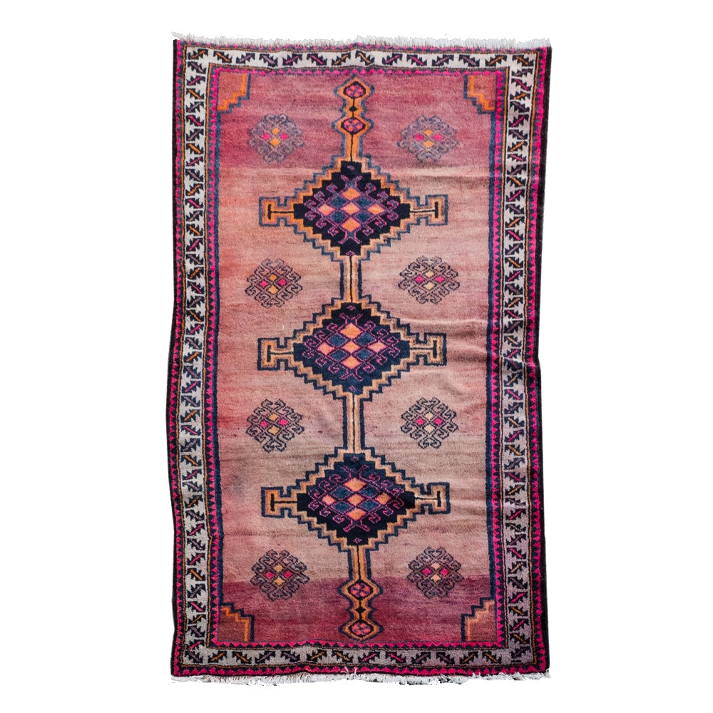 Handwoven Wool Central Asian Area Rug