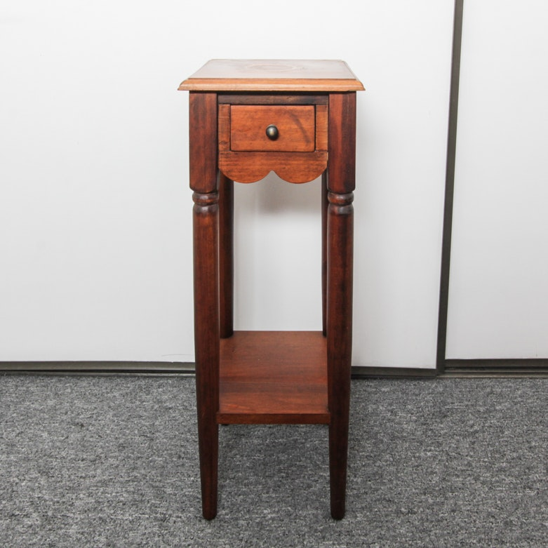 One-Drawer Wooden Stand
