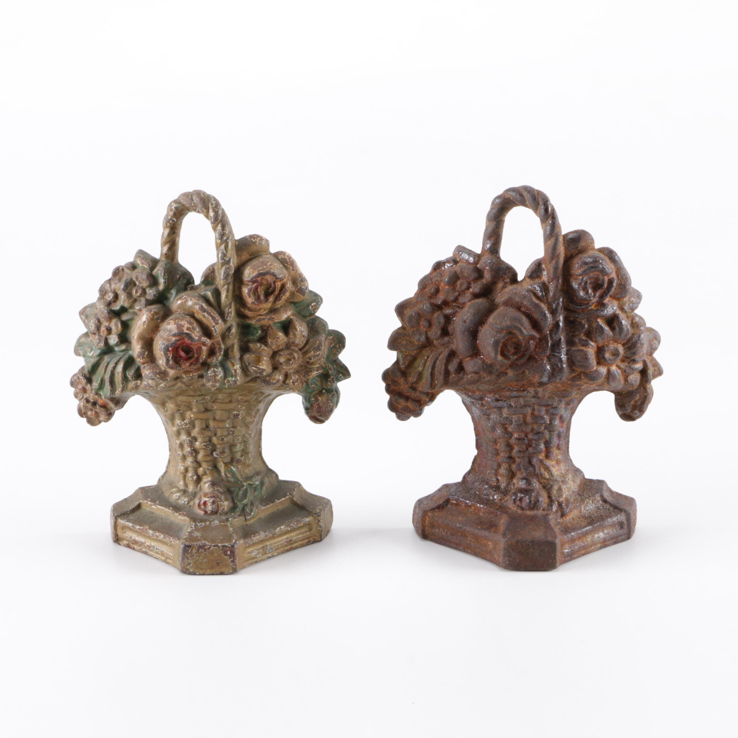Cast Iron Floral Themed Decor