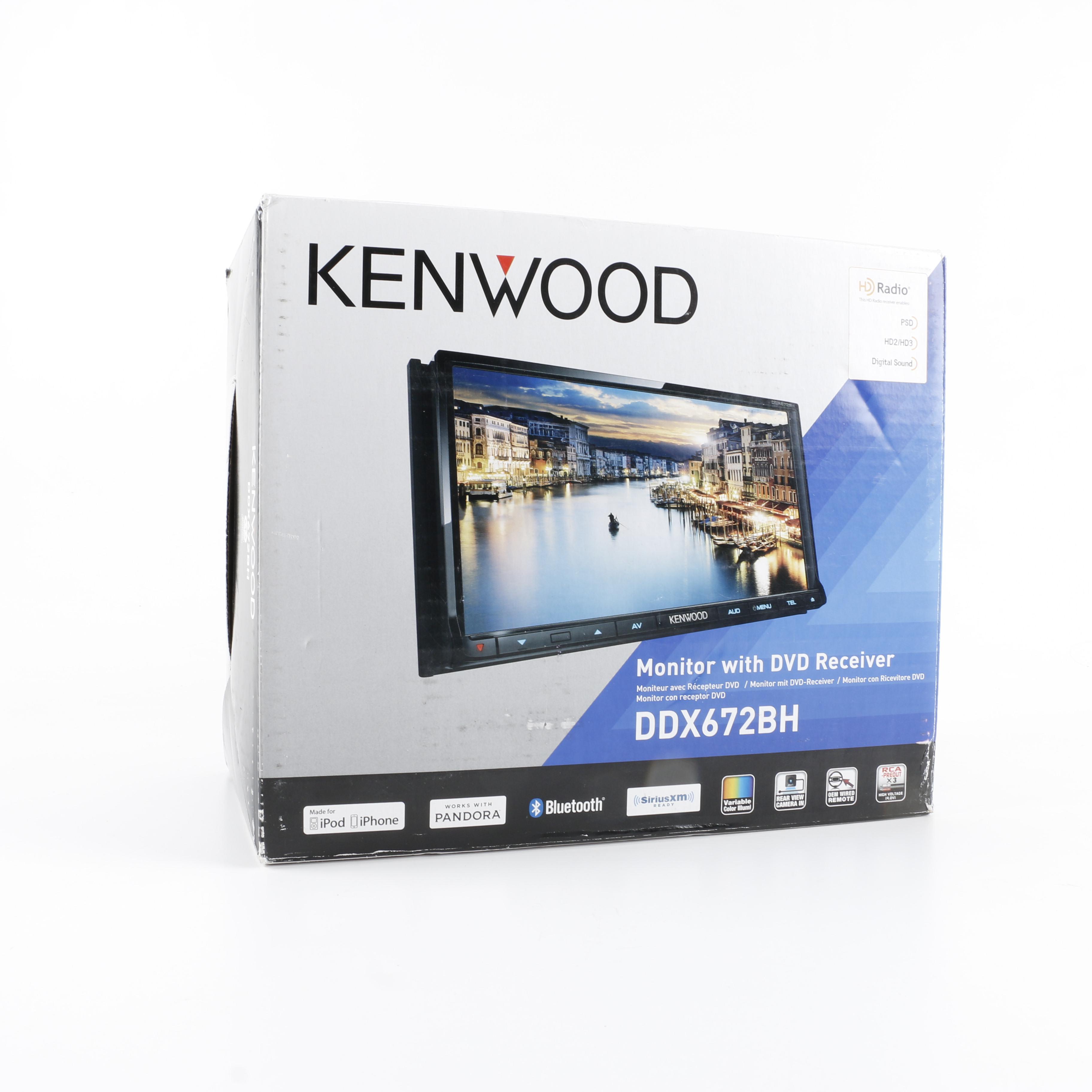 kenwood ddx672bh car stereo monitor  dvd receiver   ebth