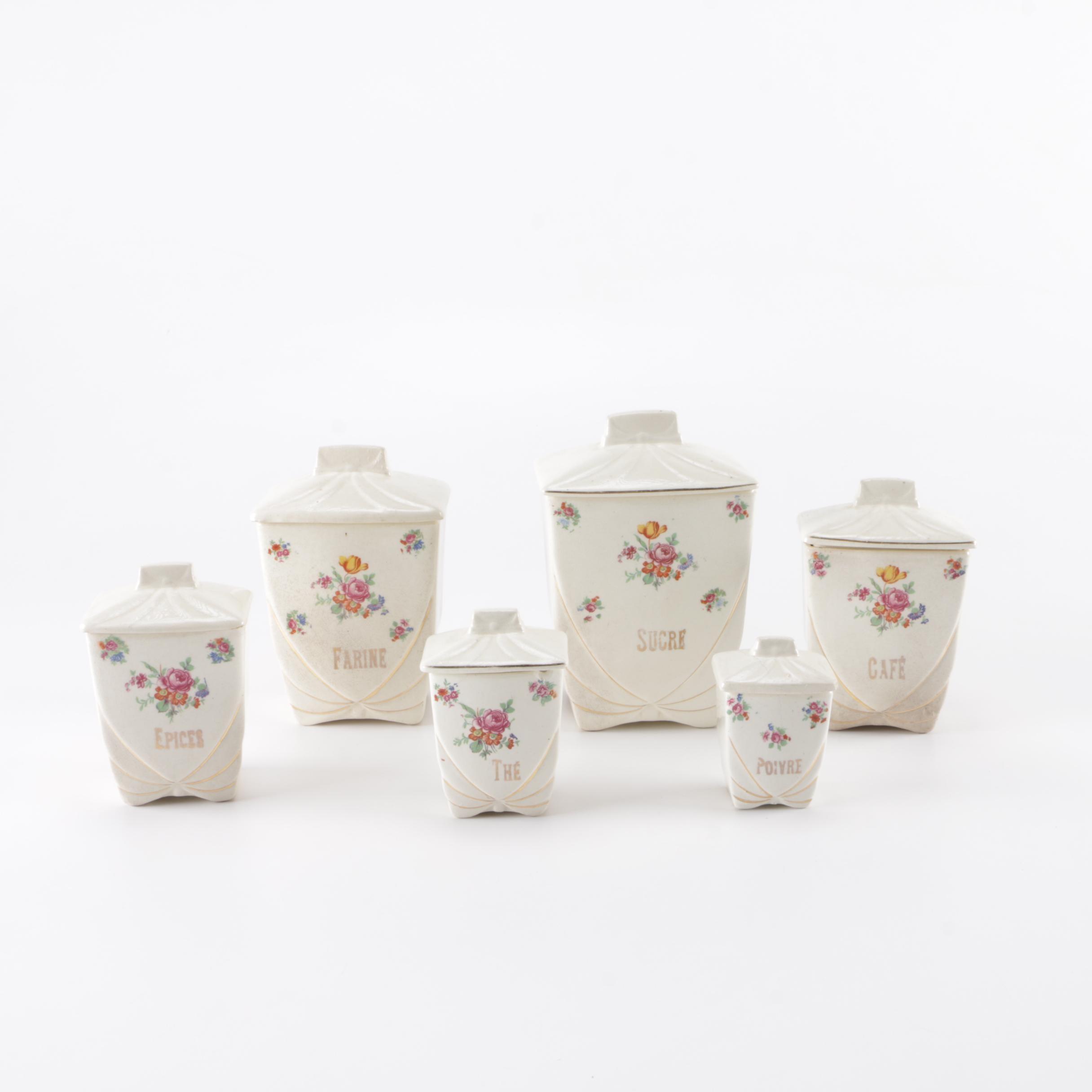 vintage labrut u0026 co ceramic kitchen canister set ebth