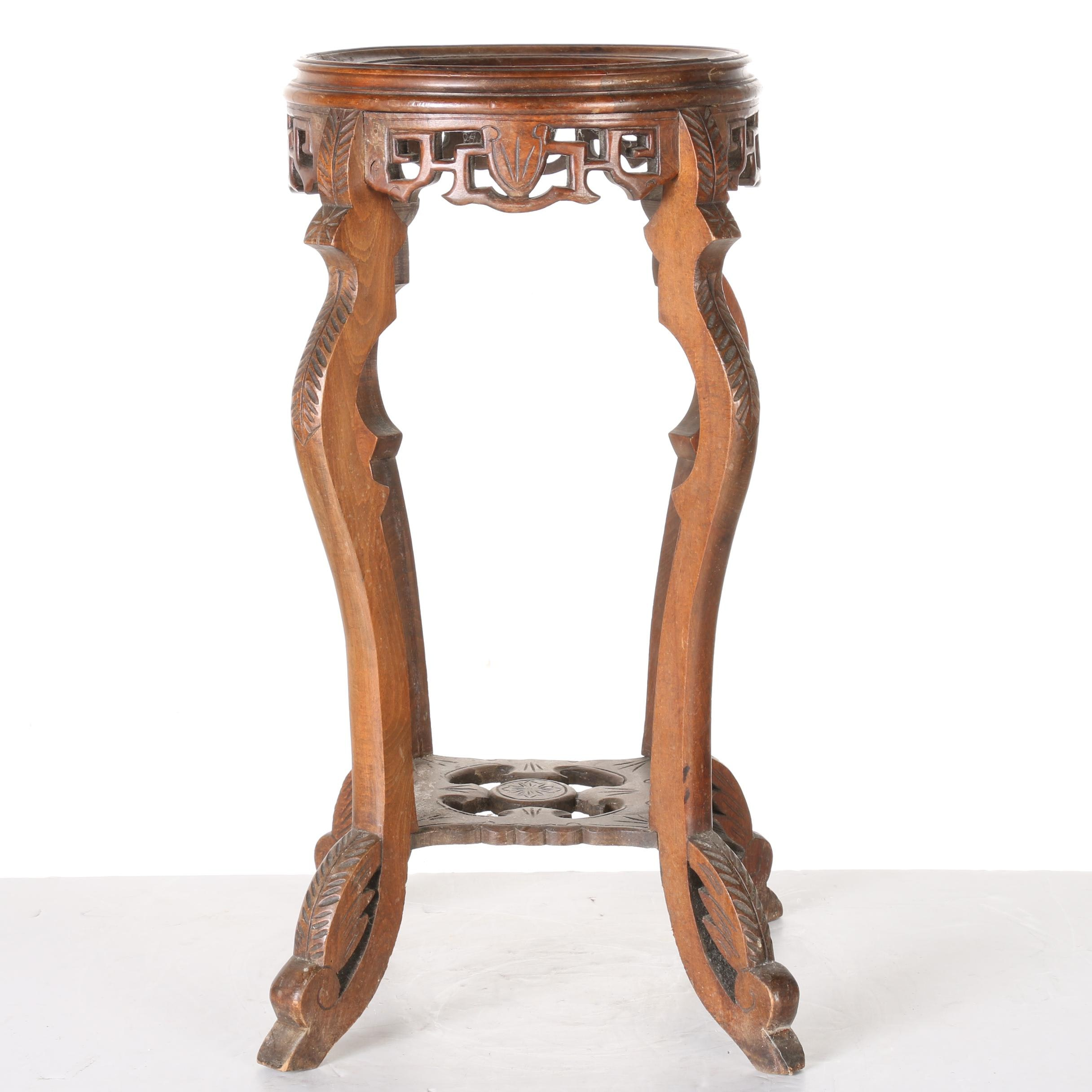 Eastlake Style Marble Top Plant Stand