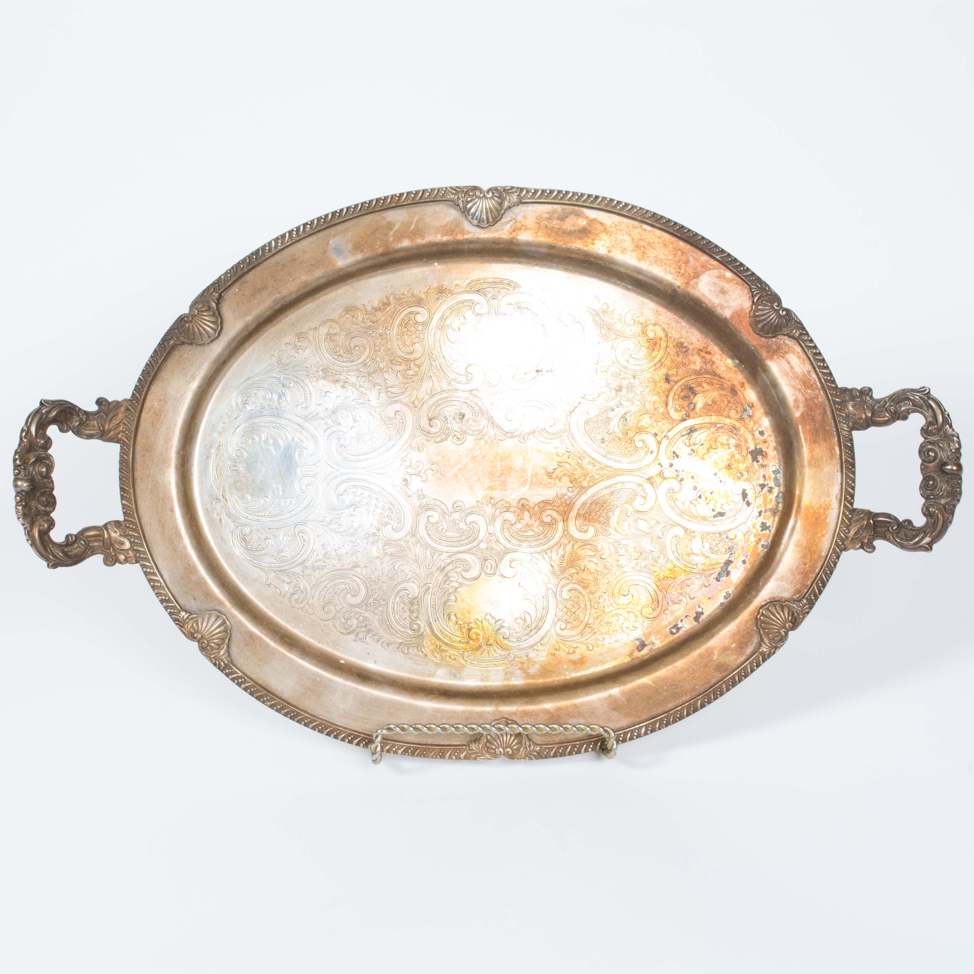 Silver Plated Baroque Tray