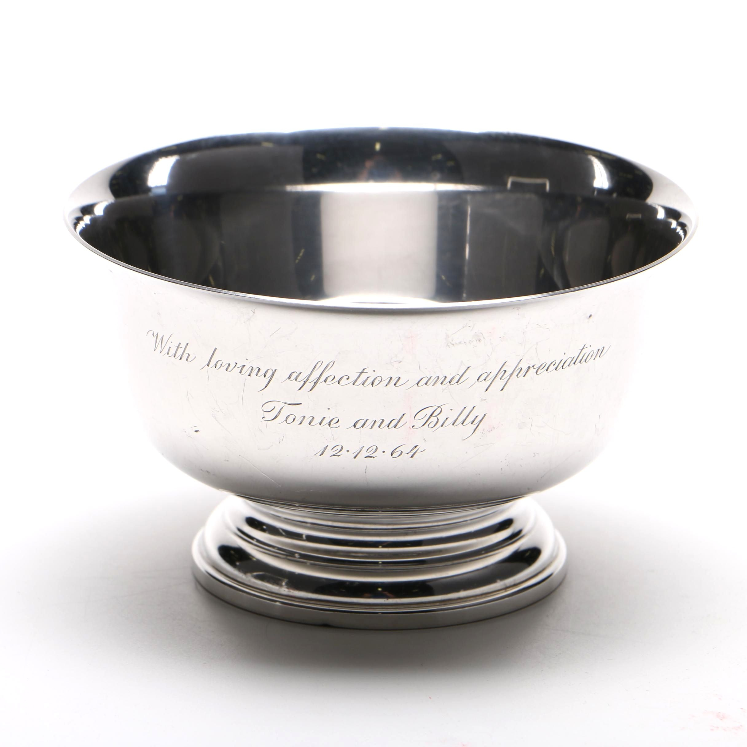 Cartier Sterling Silver Paul Revere Reproduction Bowl