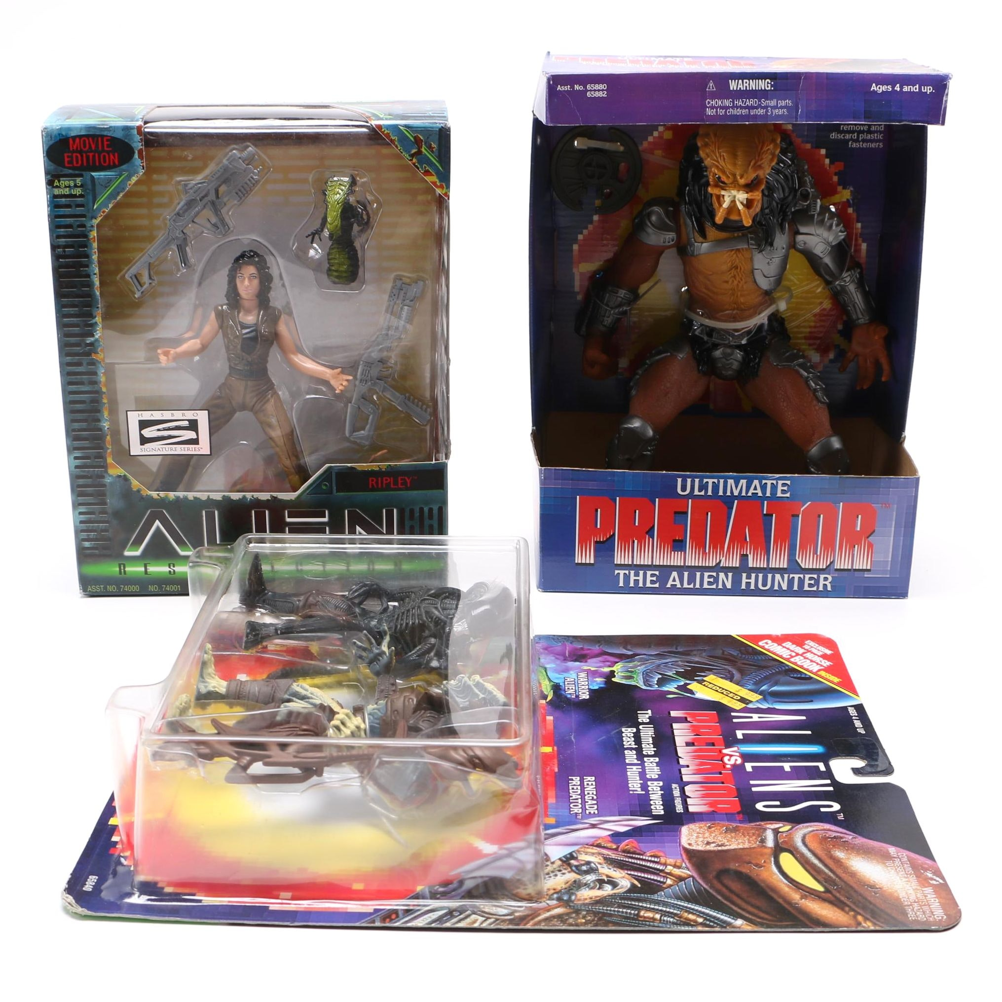 "Collection of ""Predator"" and ""Alien"" Action Figures"