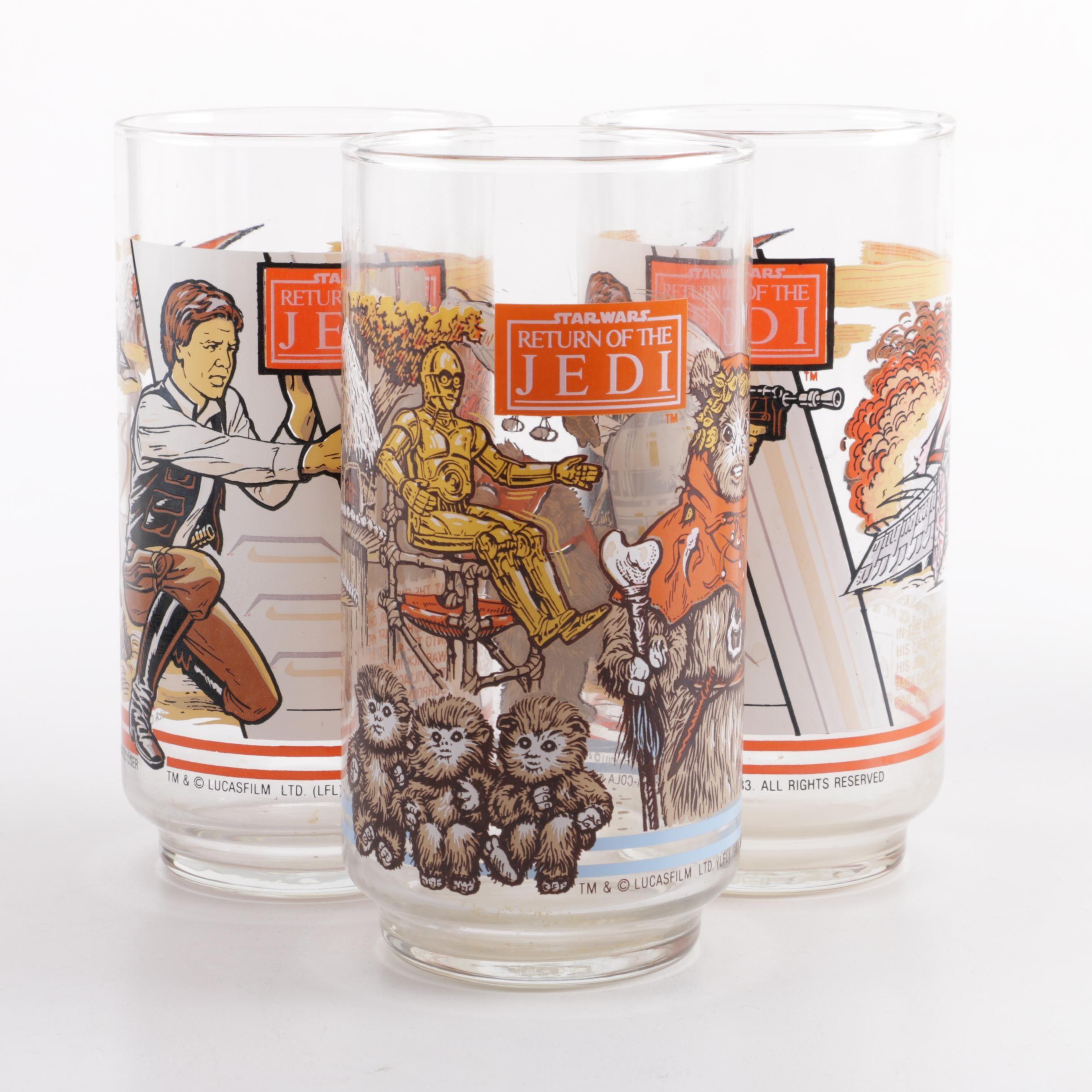 "1983 Burger King ""Star Wars: Return of the Jedi"" Drinking Glasses"