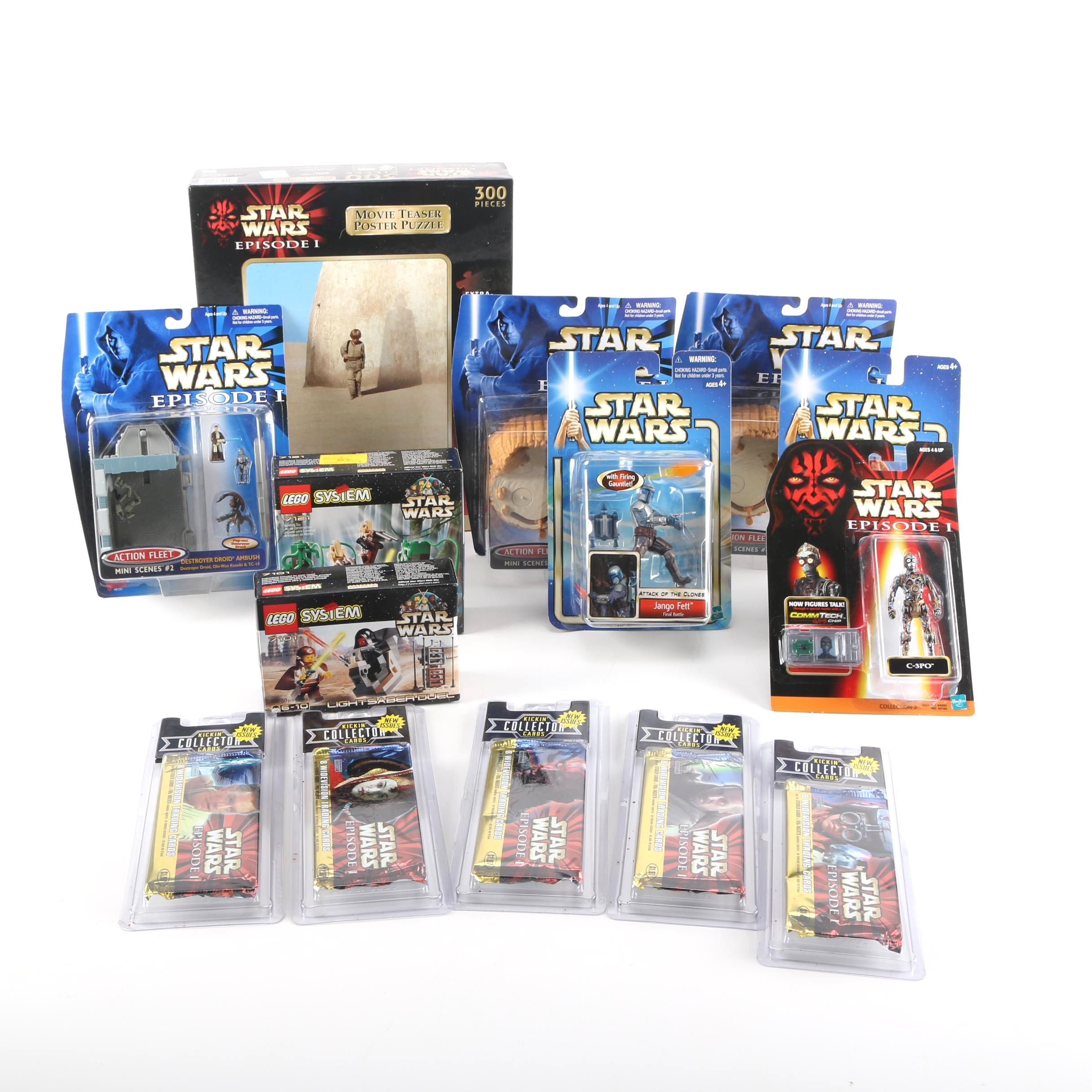 """Star Wars"" Action Figures, Trading Cards, and Puzzle"